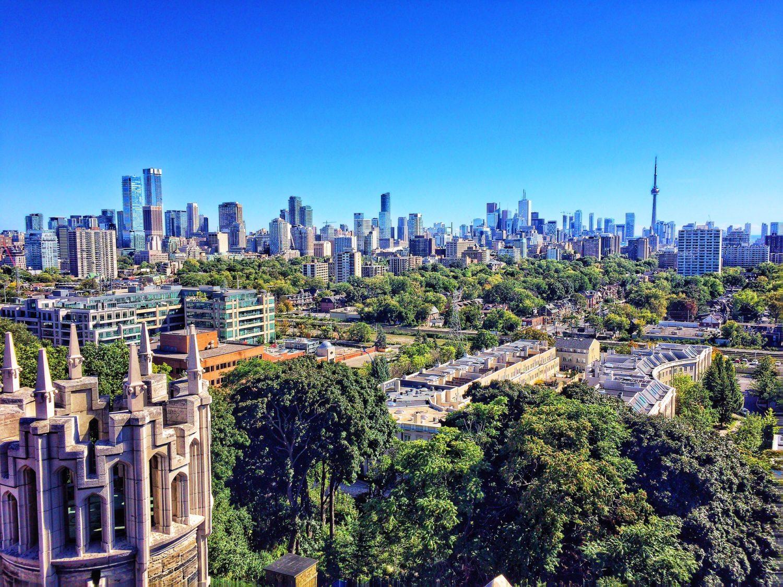 Aerial view of Toronto, Canada