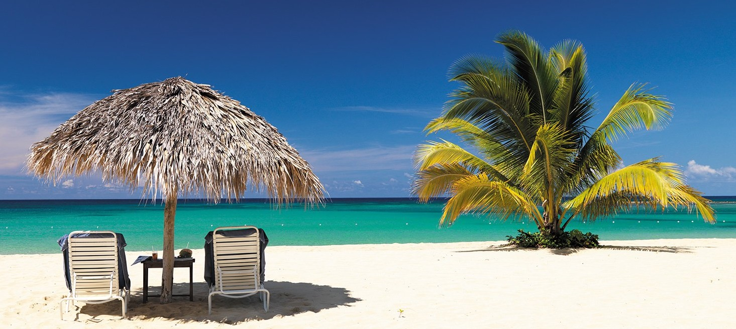 Beach resort in Jamaica