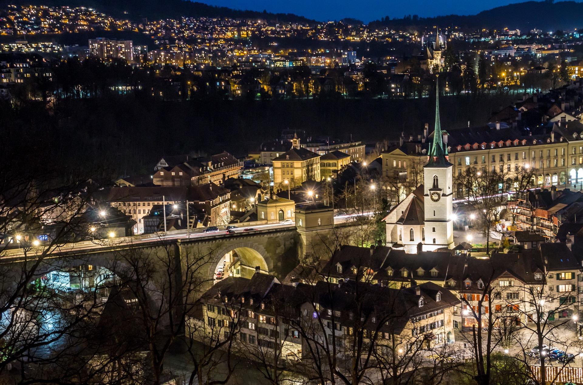 Bern, Switzerland at night