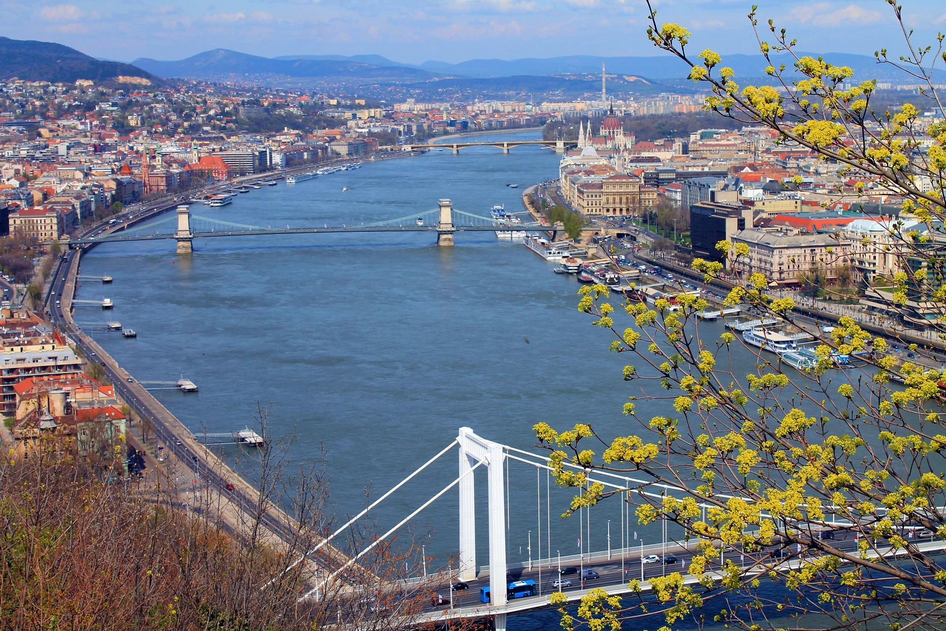Danube River in Budapest, Hungary