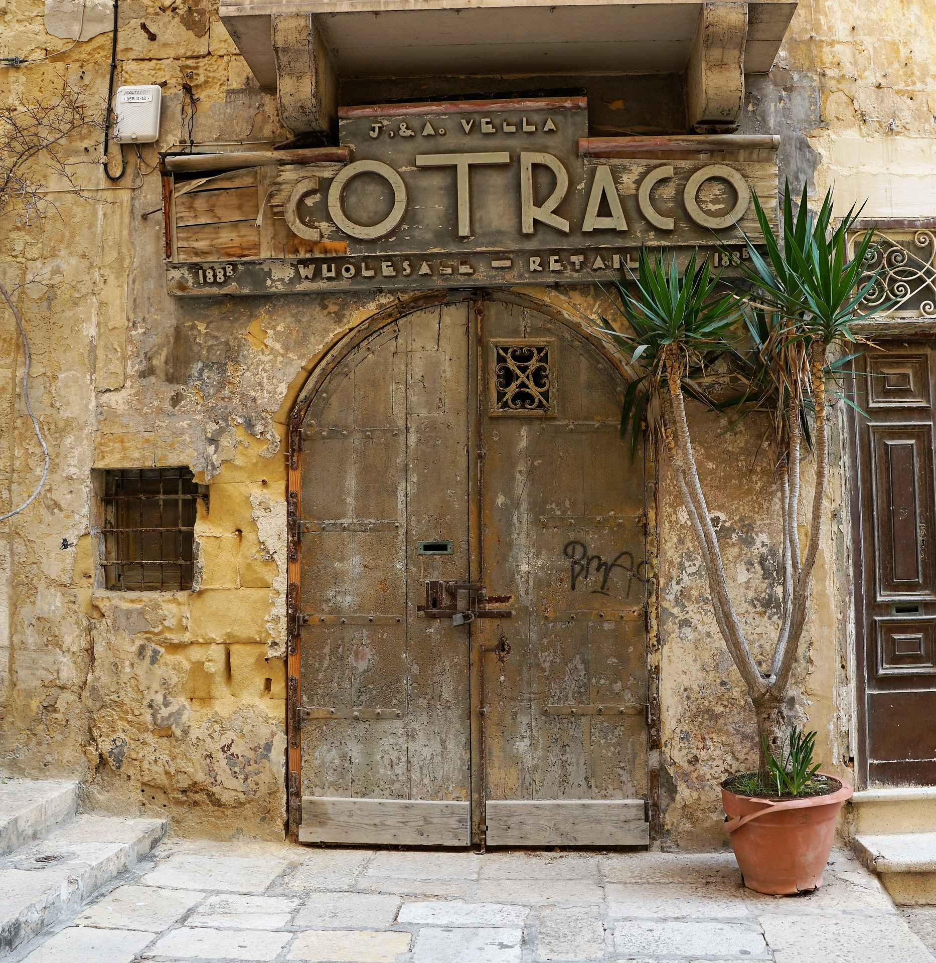Doorway in Valletta, Malta