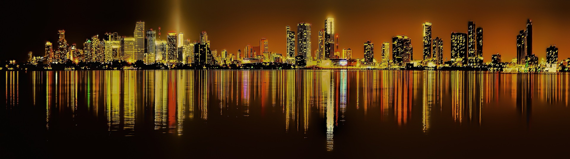 Downtown Miami, Florida at night