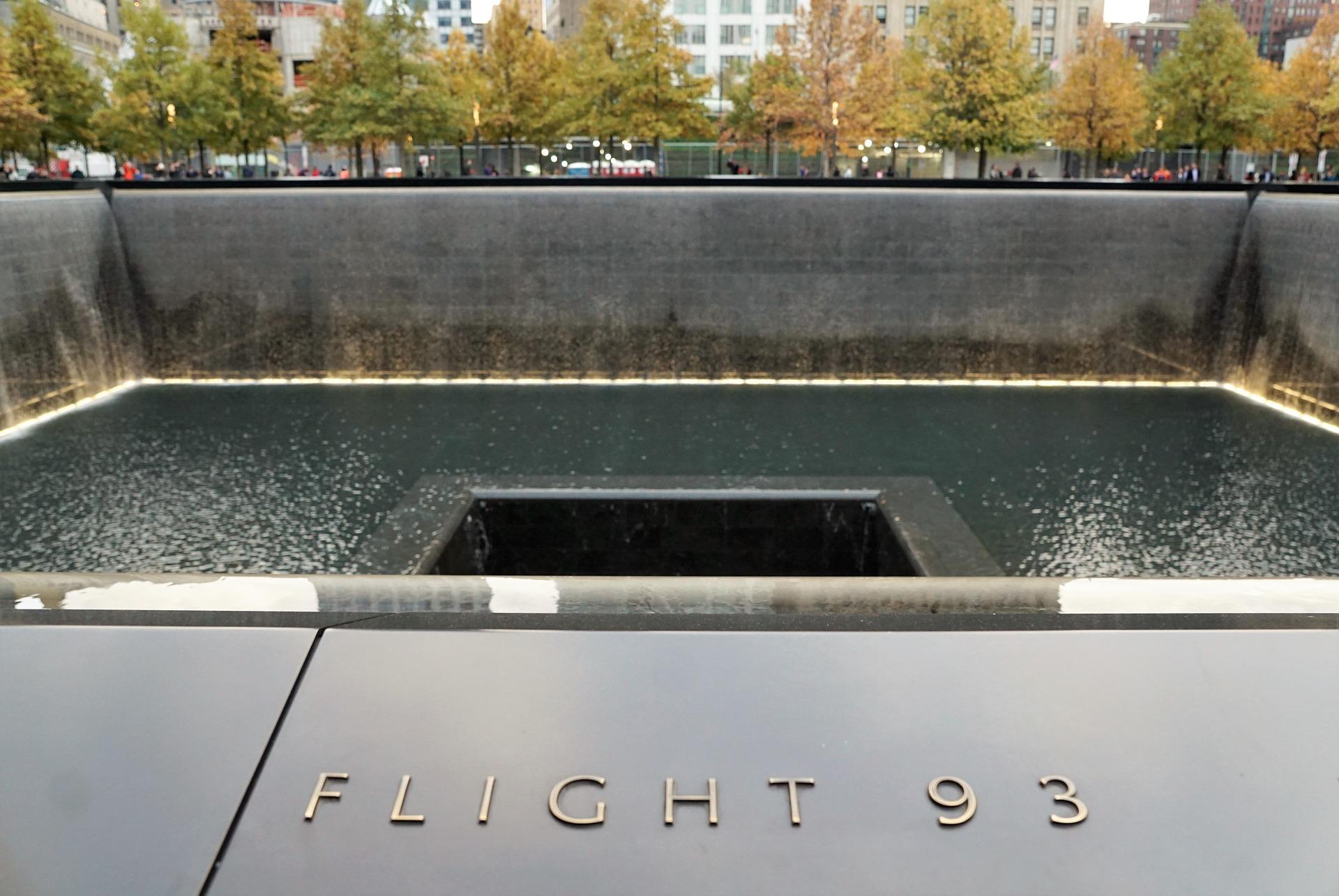 Flight 93 name at Ground Zero Memorial, New York City