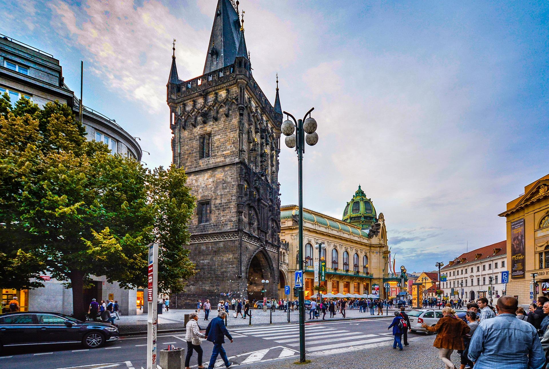 Guard Tower on Charles Bridge in Prague, Czech Republic