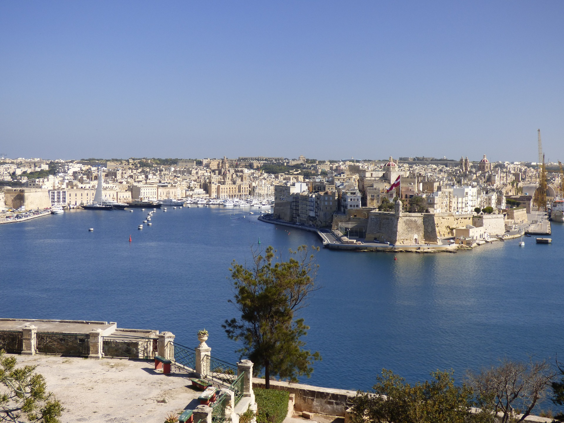 Harbour in Valletta, Malta