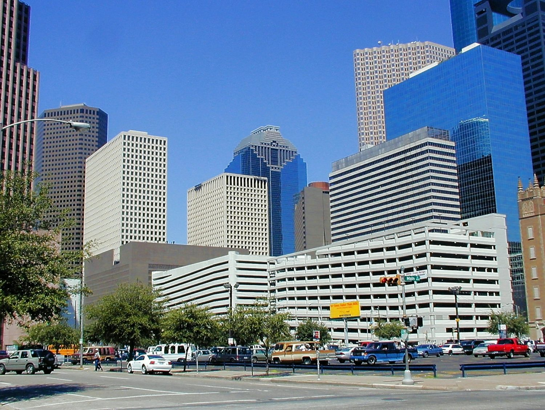 Houston, Texas city center