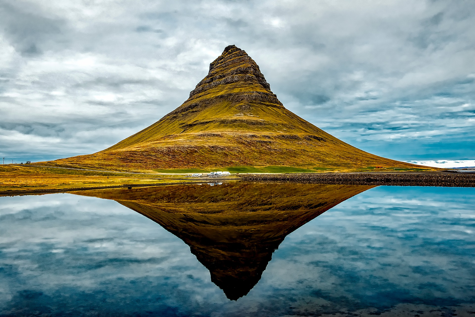Kirkjufell, mountain in Iceland