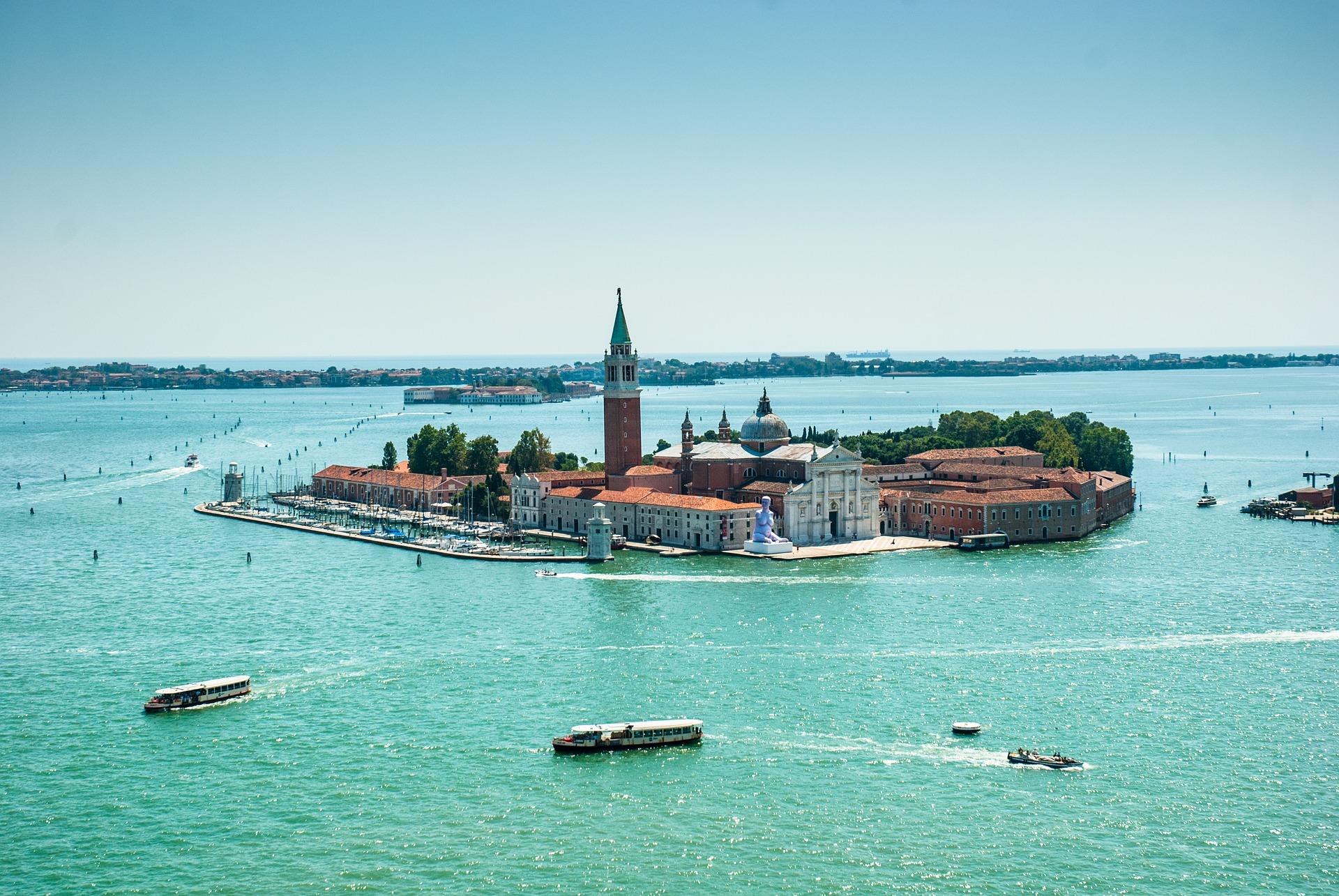Murano Island in the Venetian Lagoon,Italy