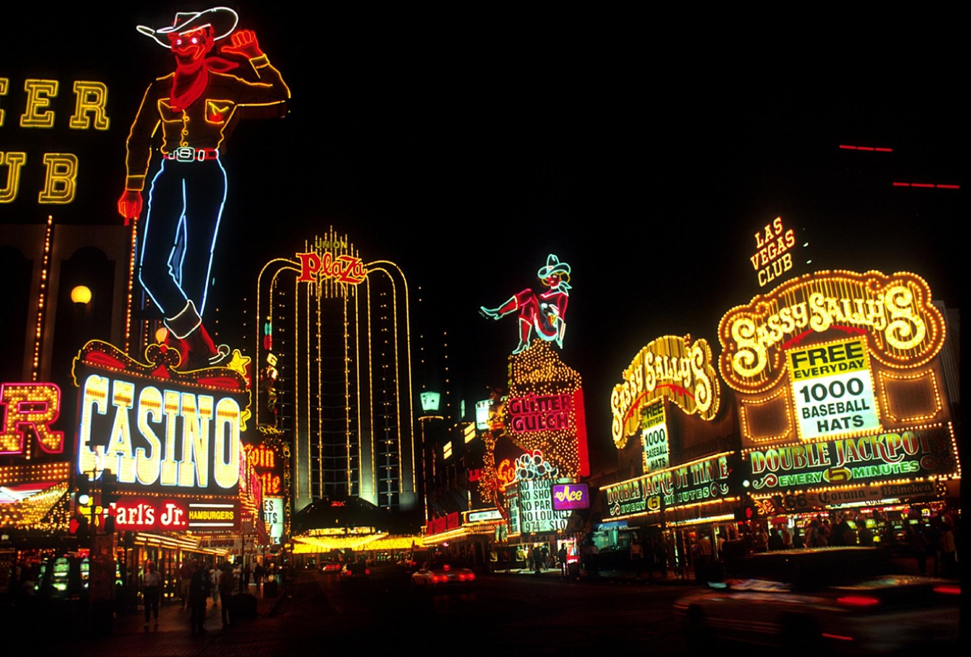 Neon Lights in Las Vegas at night