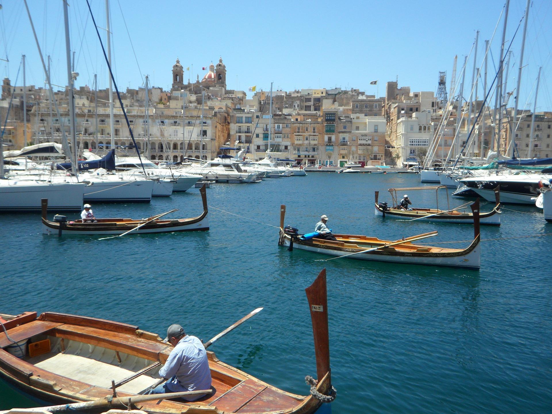 Port in Valletta, Malta
