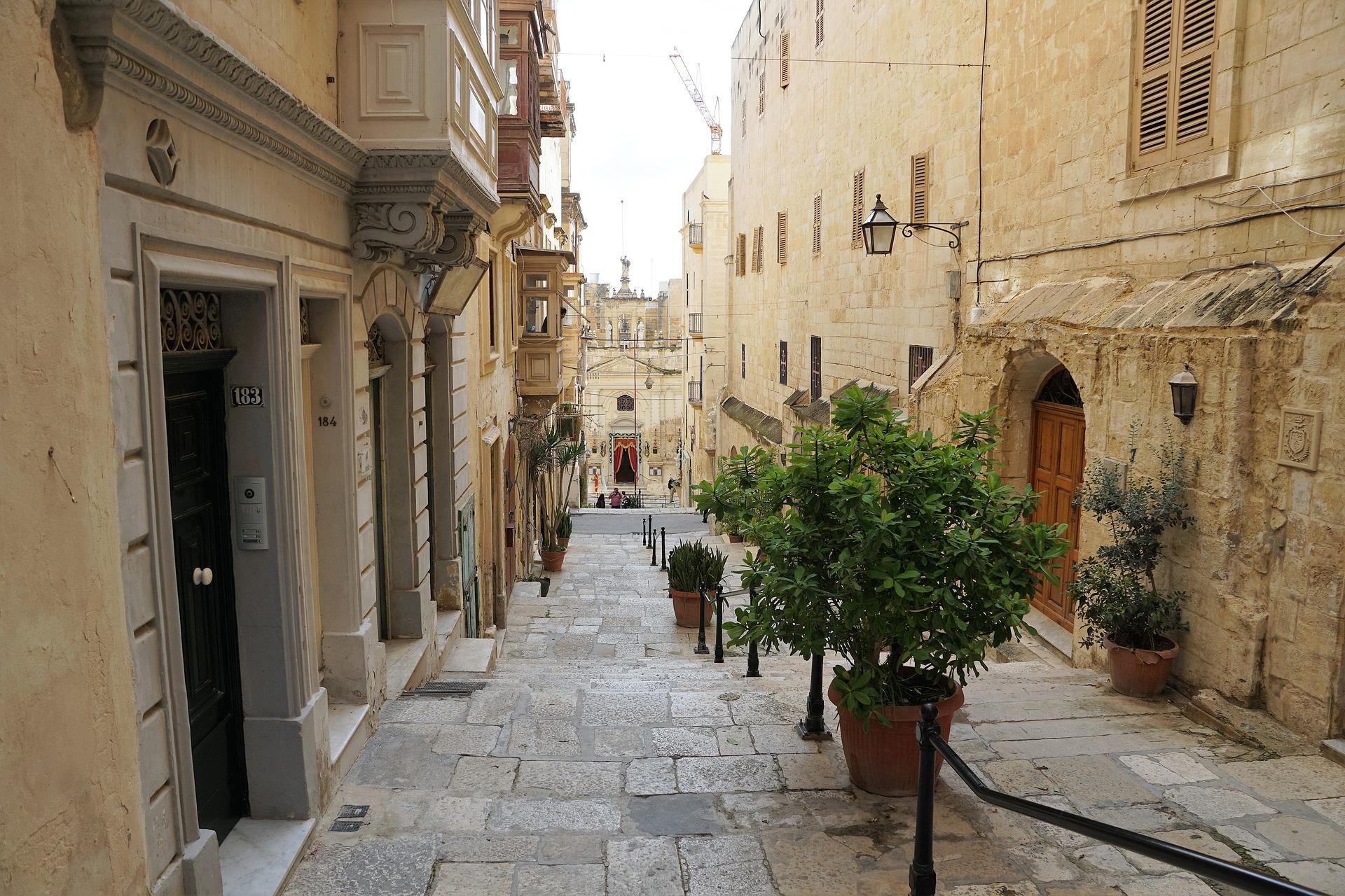 Road in Valletta, Malta