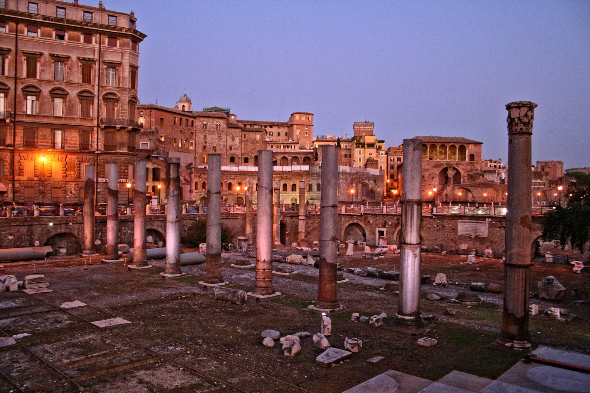 Roman Forum, Rome - at night