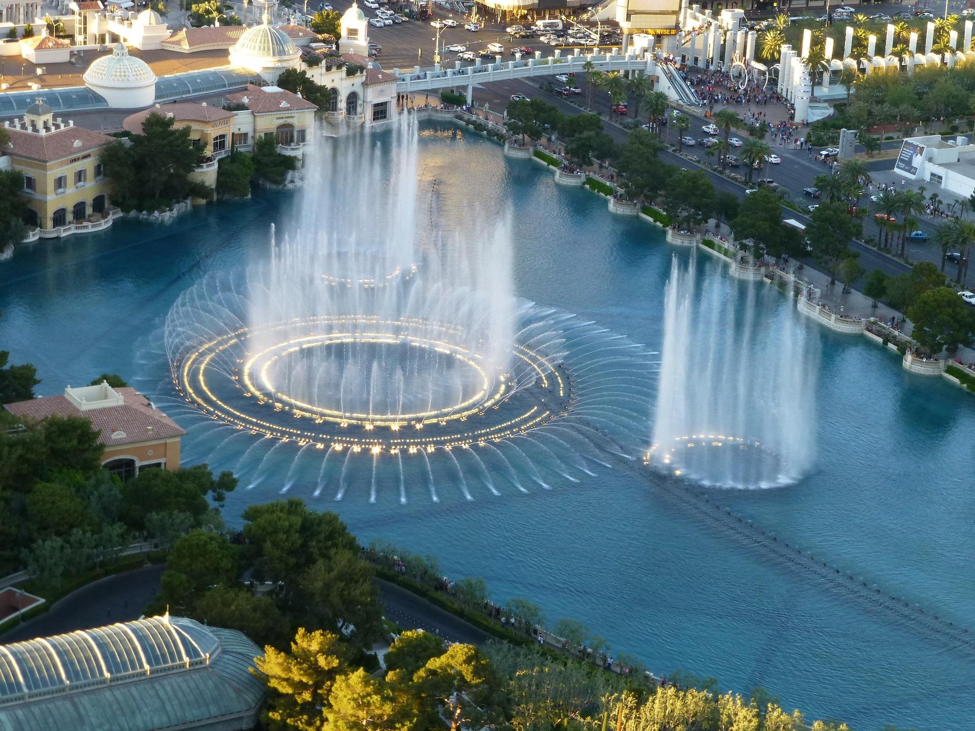 The Las Vegas Water Fountain