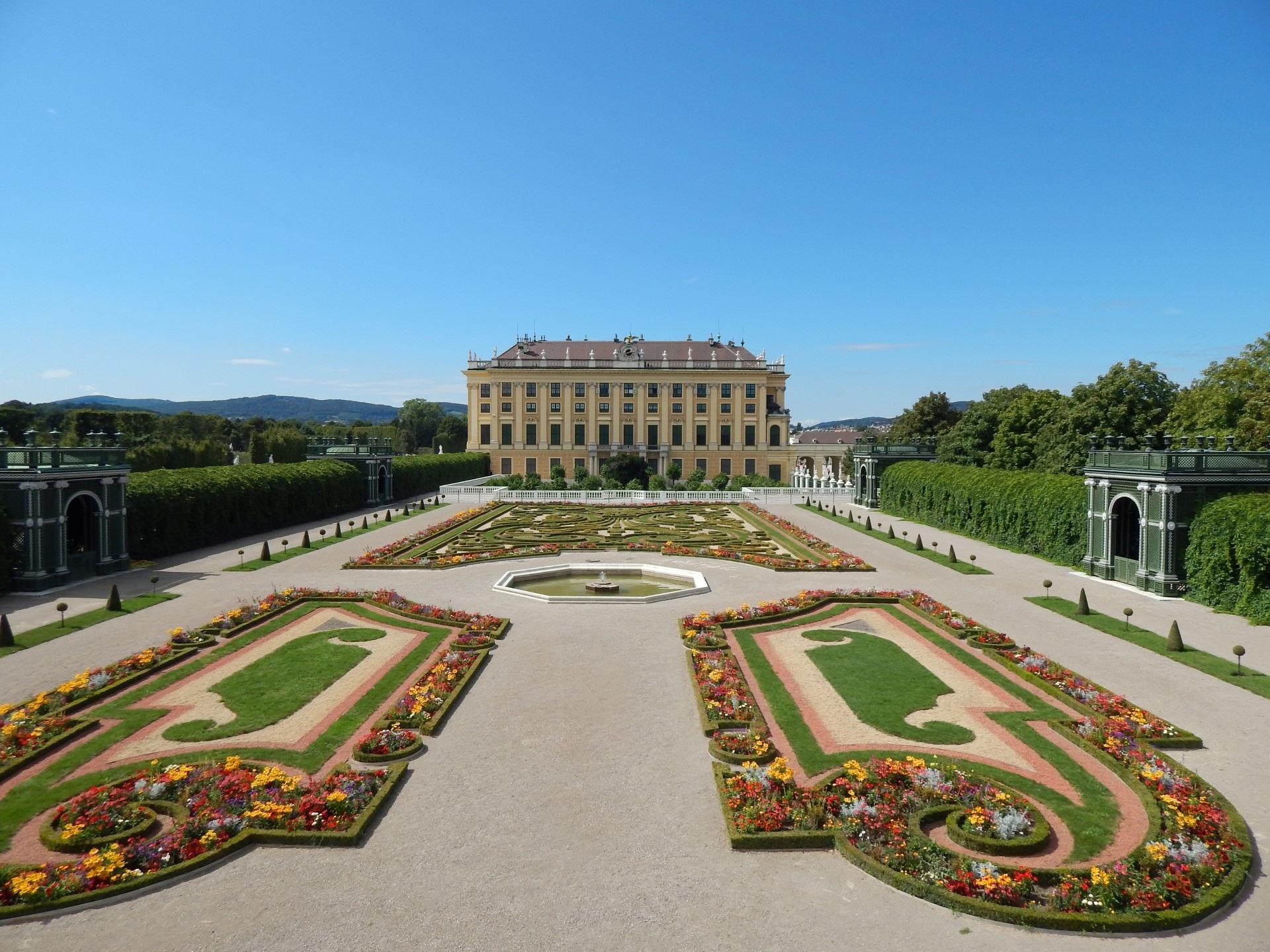 The park at Schönbrunn Palace, Vienna