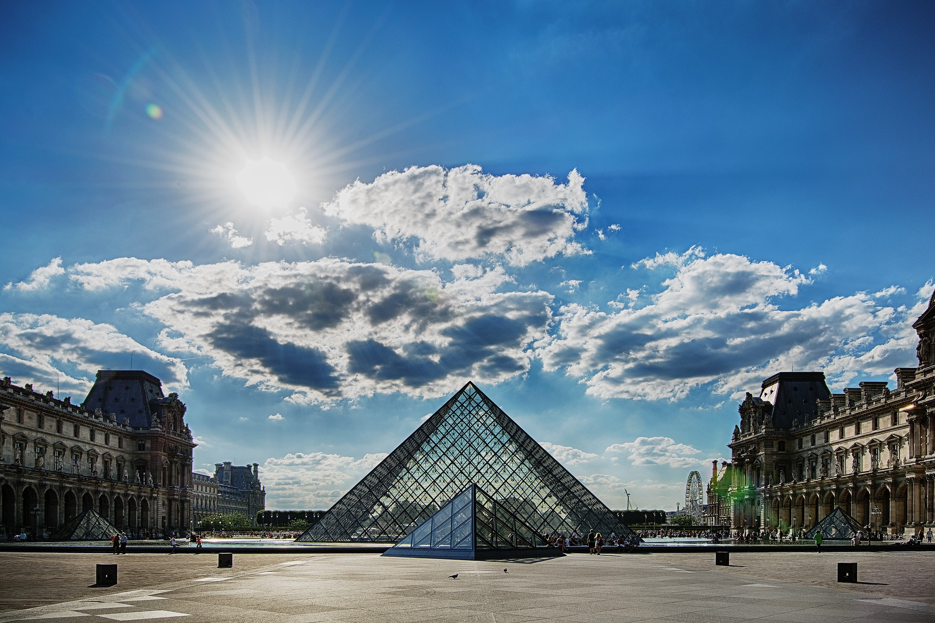 Glass Pyramid at the Louvre, Paris France