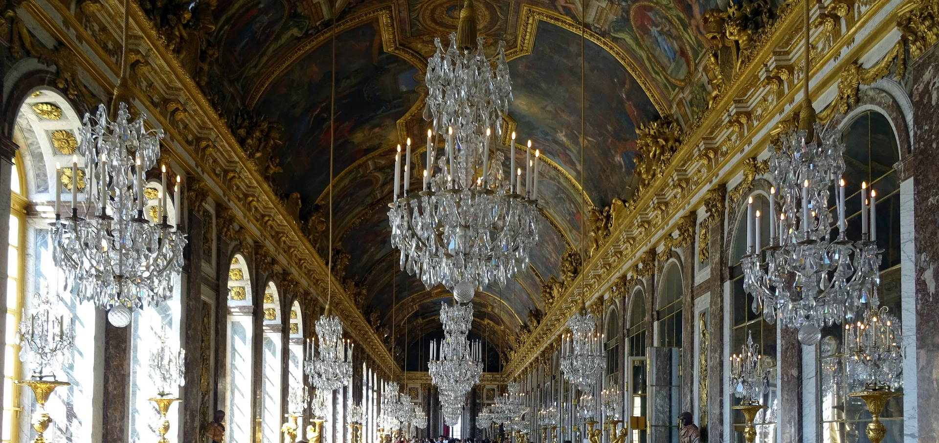 Inside Palace of Versailles, Paris, France