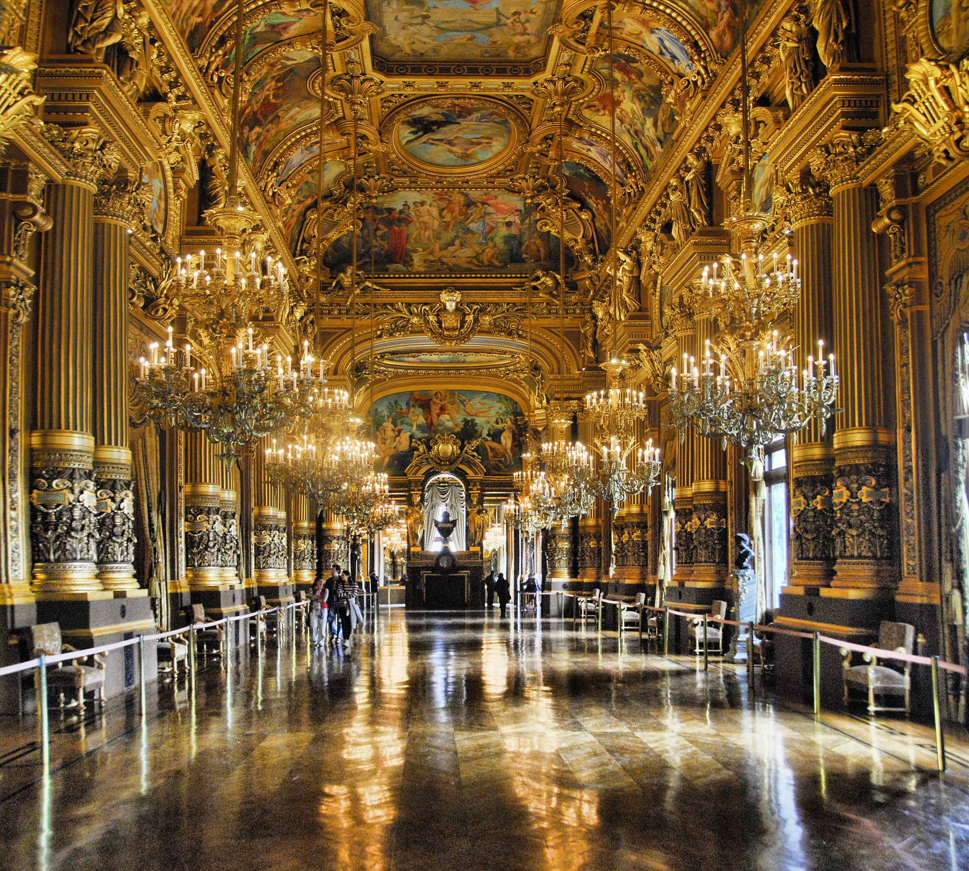 Inside Palais Garnier (Paris Opera House), Paris, France