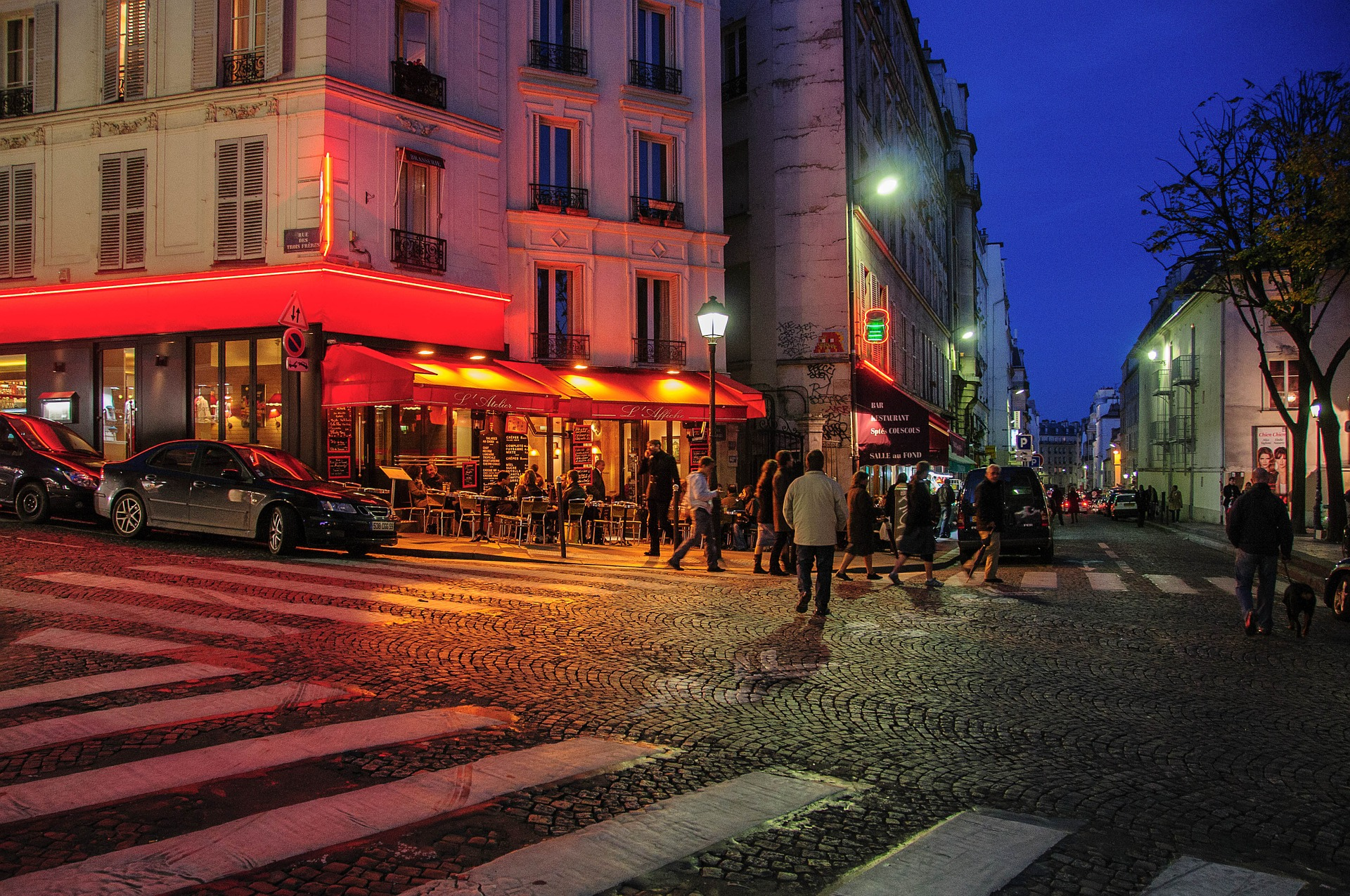 Night life, Paris, France