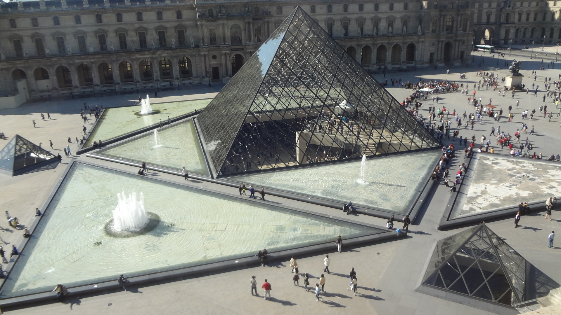 Pyramid, Louvre, Paris, France