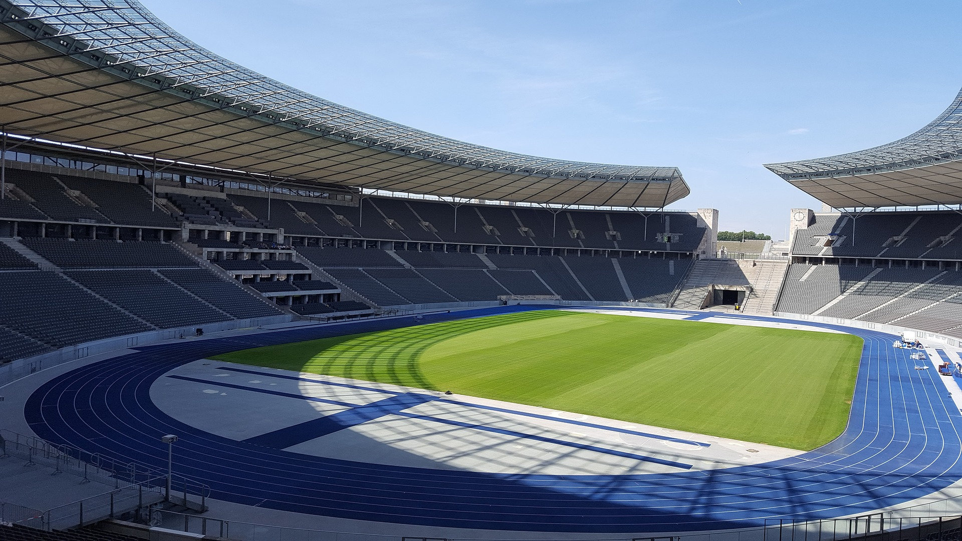 Inside the Olympiastadion (olympic Stadium) Berlin, Germany
