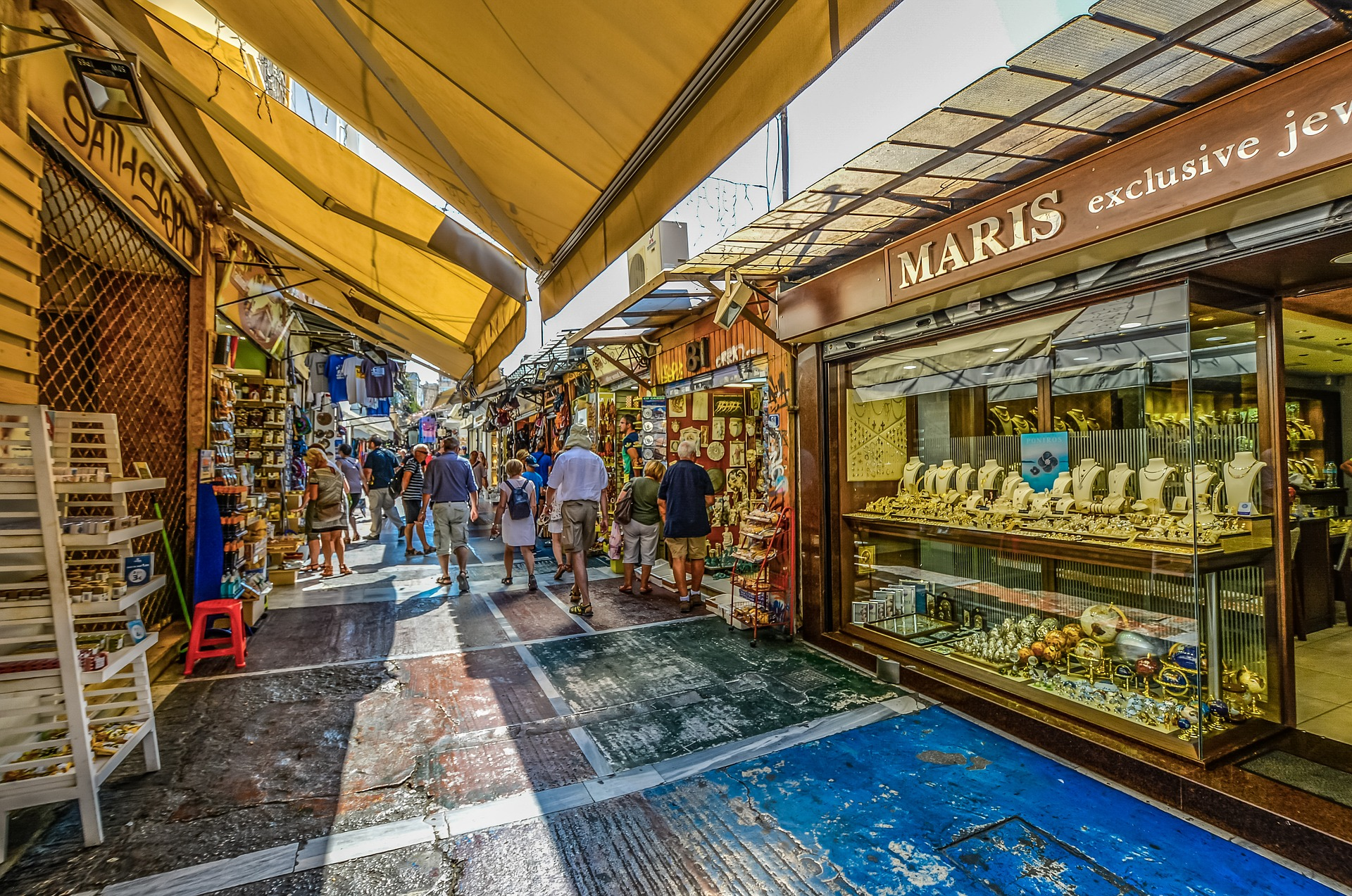 Market in Athens, Greece