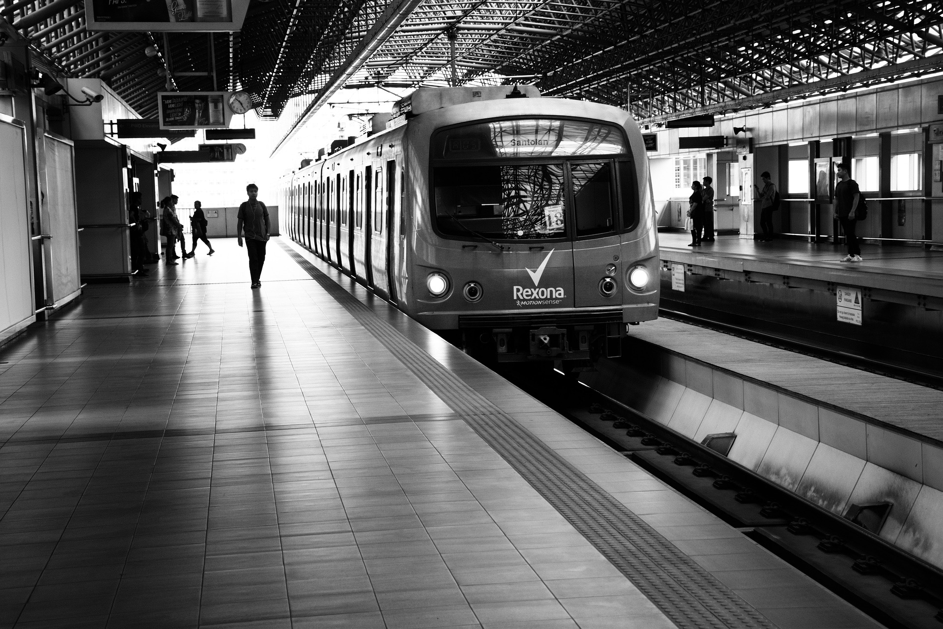 Metro train in Manila, Philippines