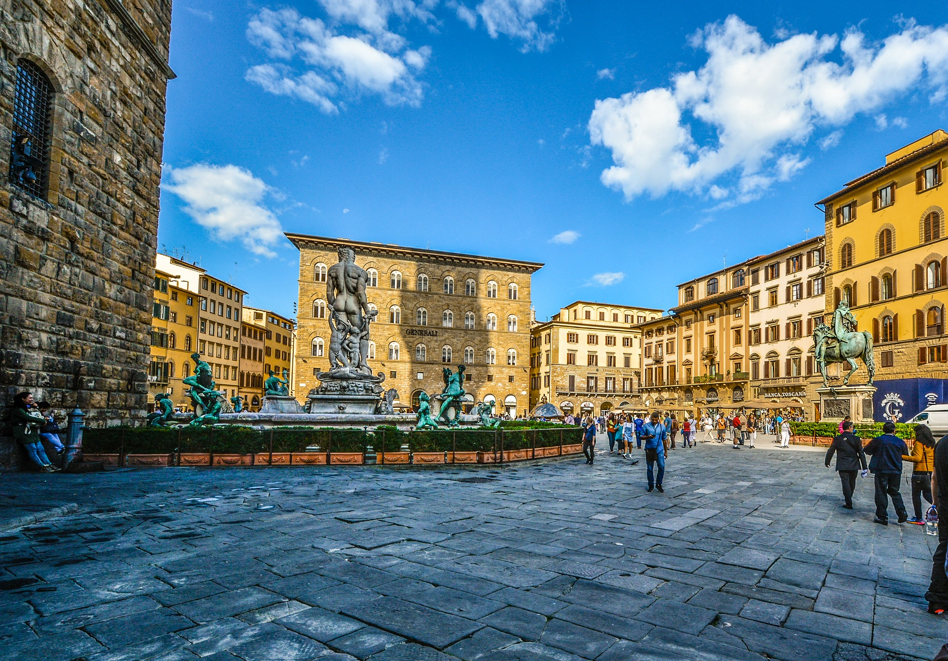 Square in Florence, Italy