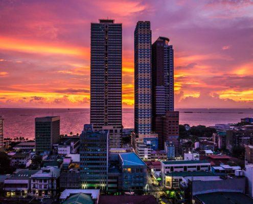 Sunset over Manila Bay, Philippines