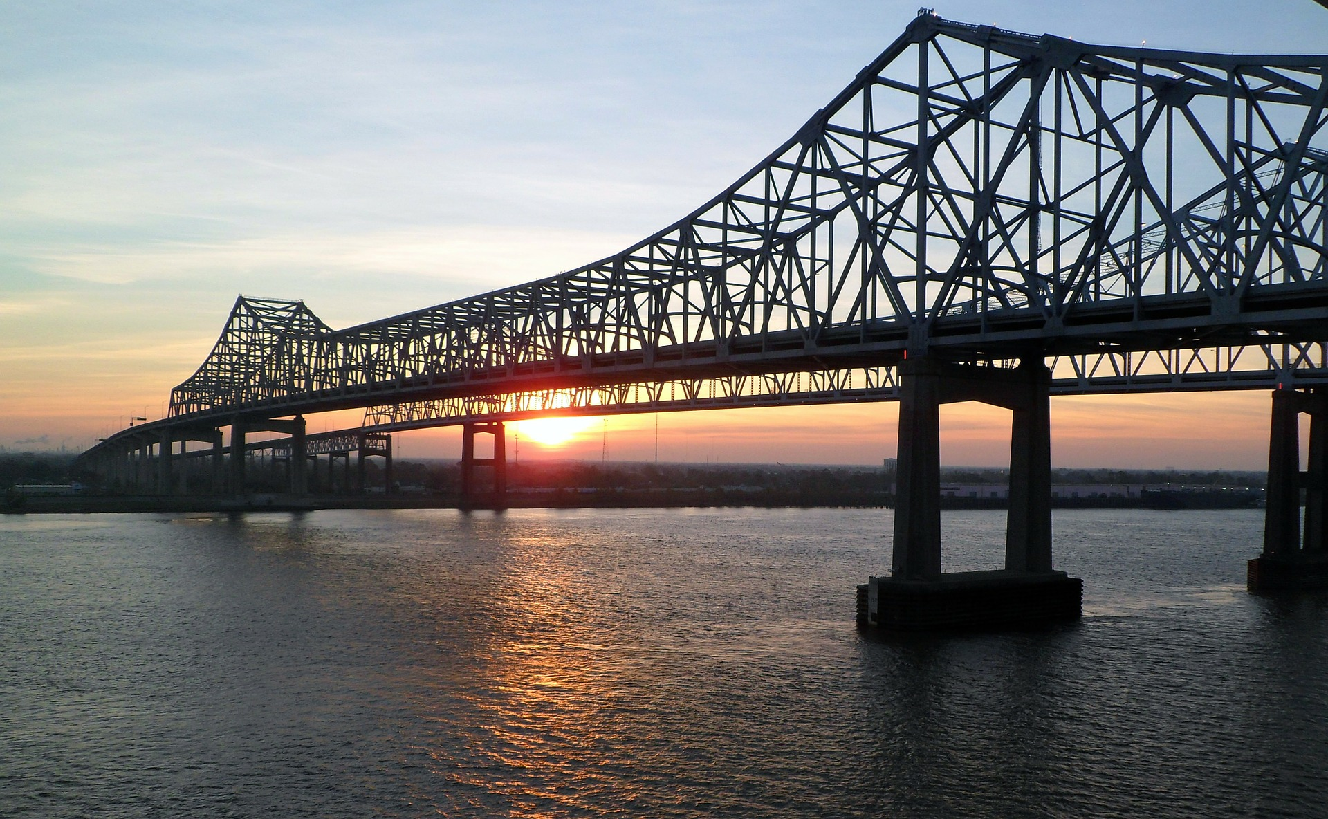 The Crescent City Connection, formerly the Greater New Orleans Bridge, New Orleans