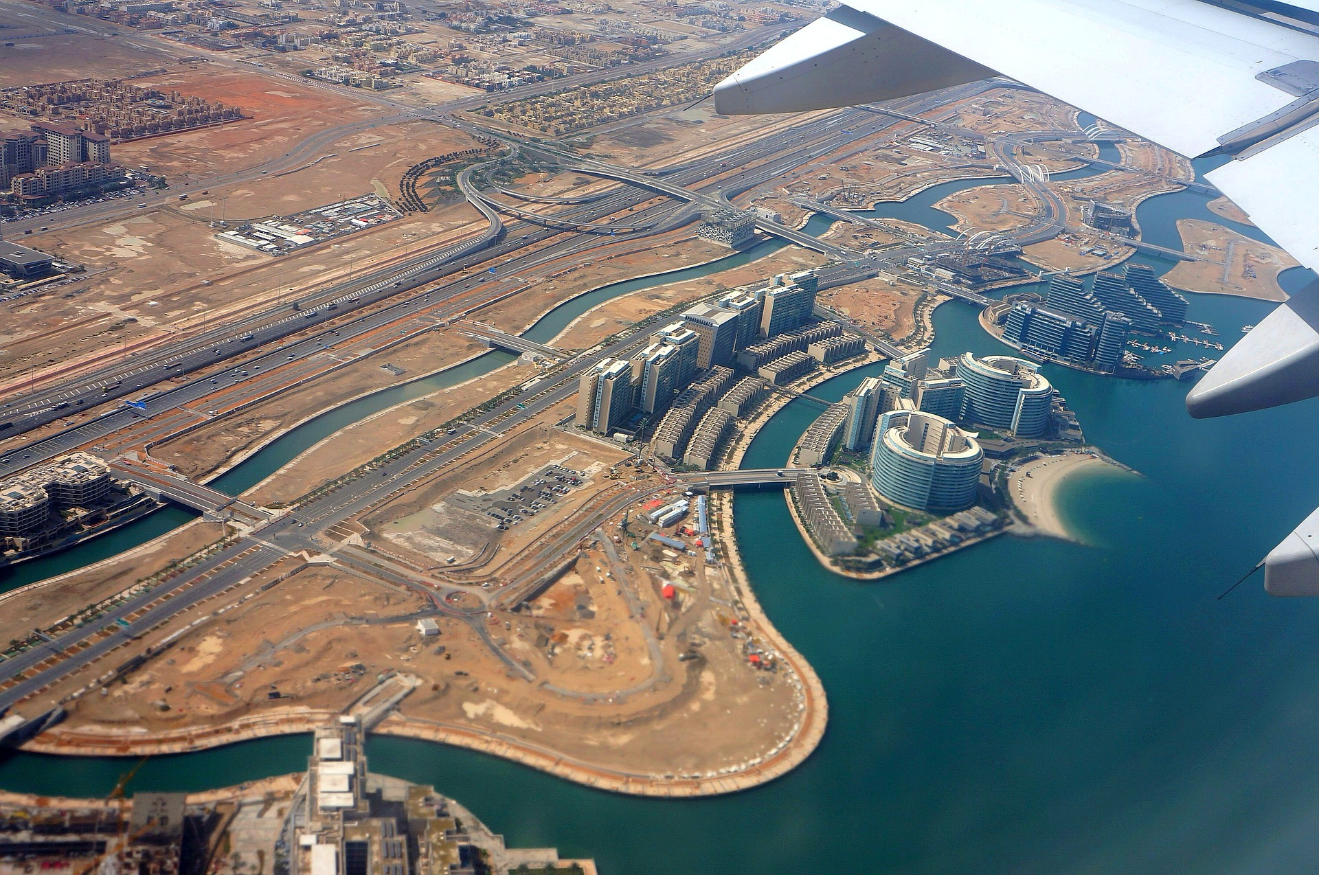Aerial view of Abu Dhabi, UAE