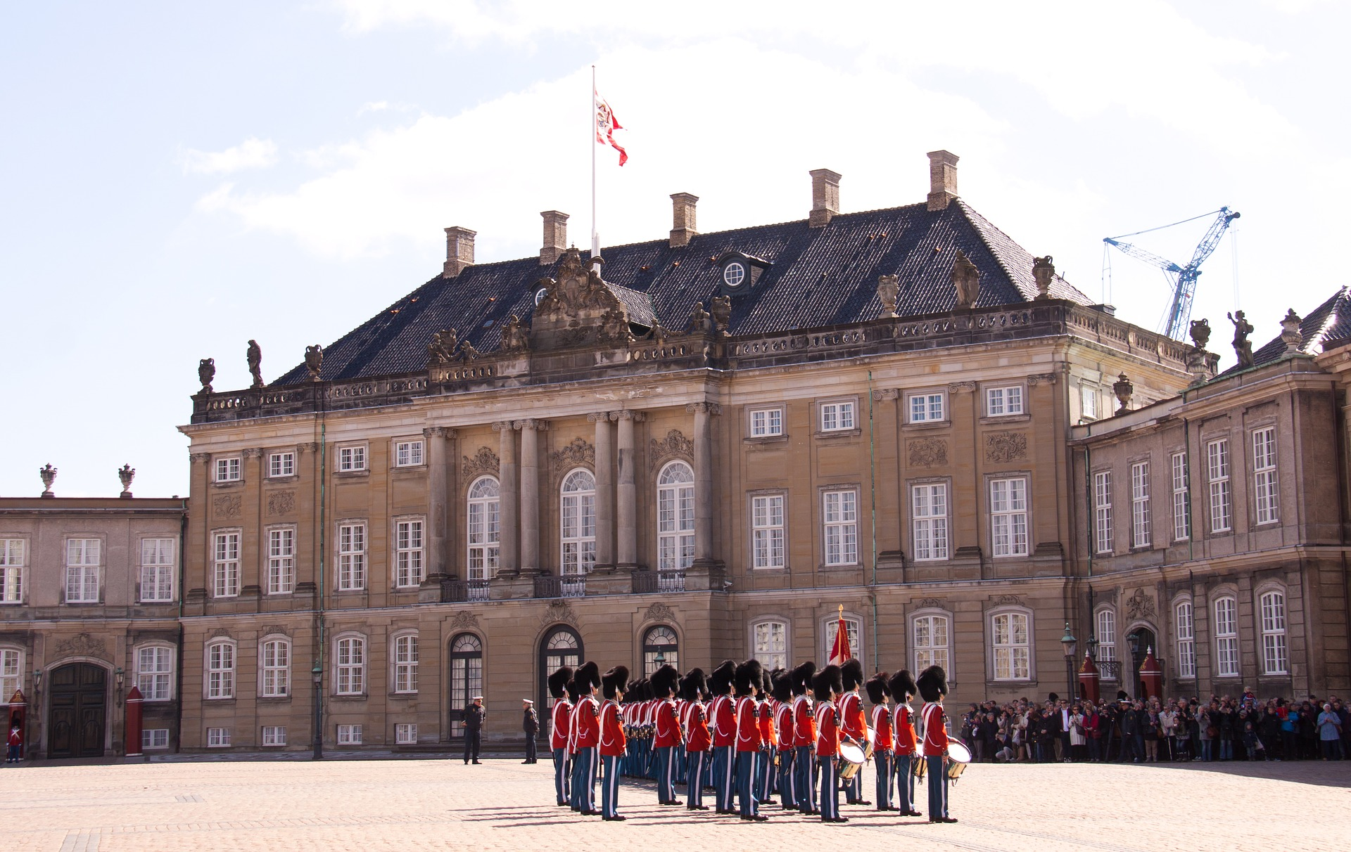 Band at Amalienborg Palace, Copenhagen, Denmark