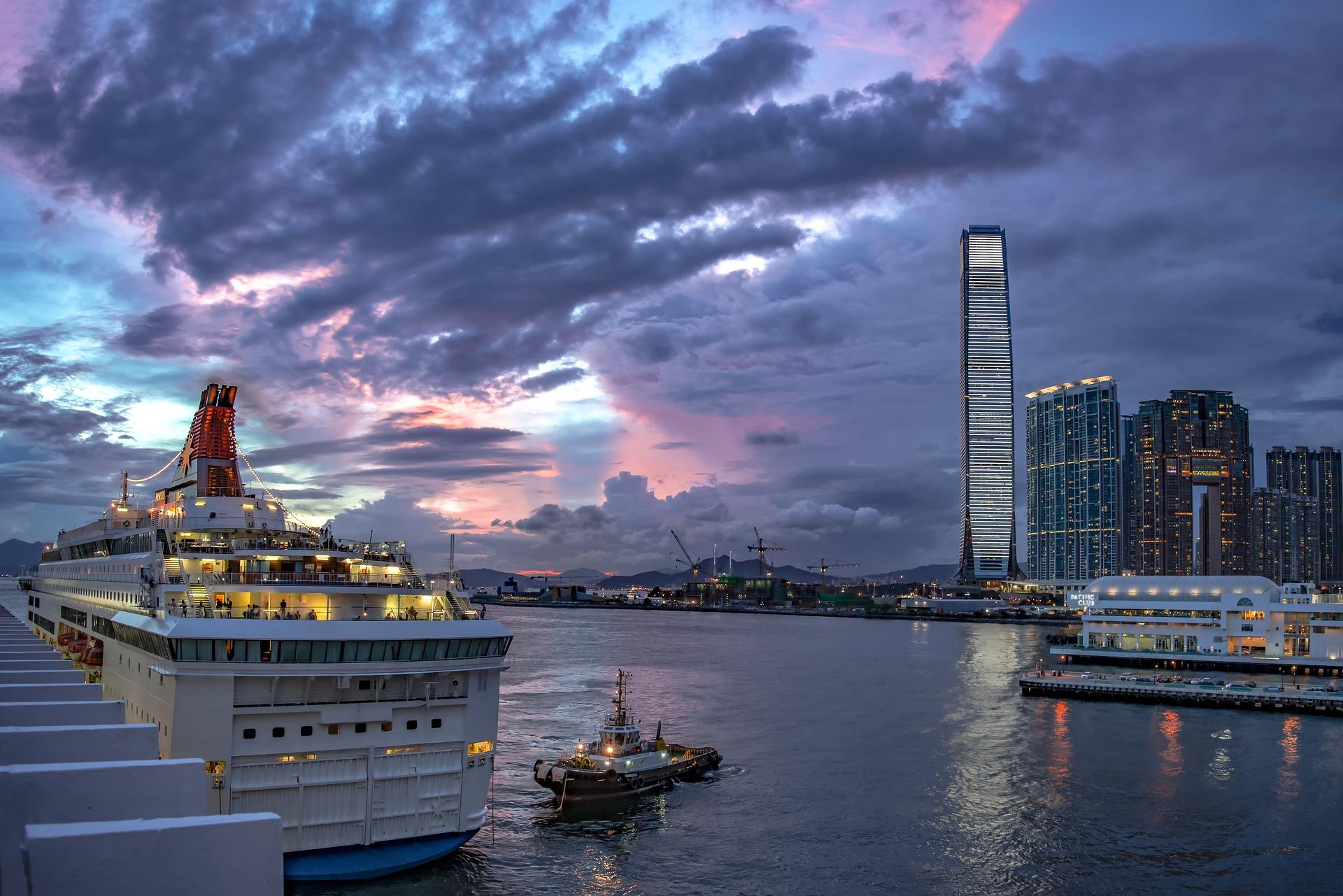 Cruise ship in Hong Kong