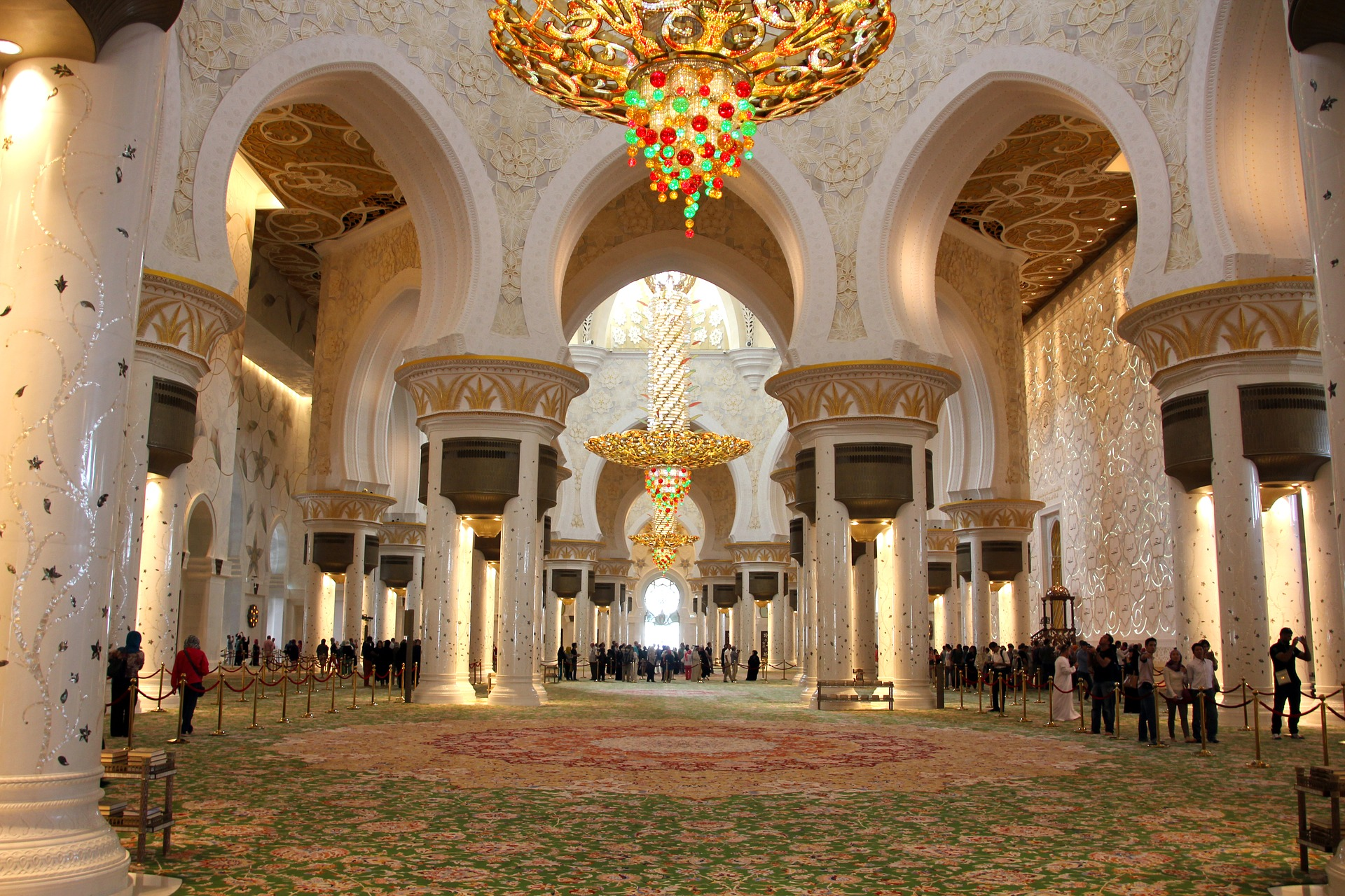Inside the Sheikh Zayed Grand Mosque, Abu Dhabi, UAE