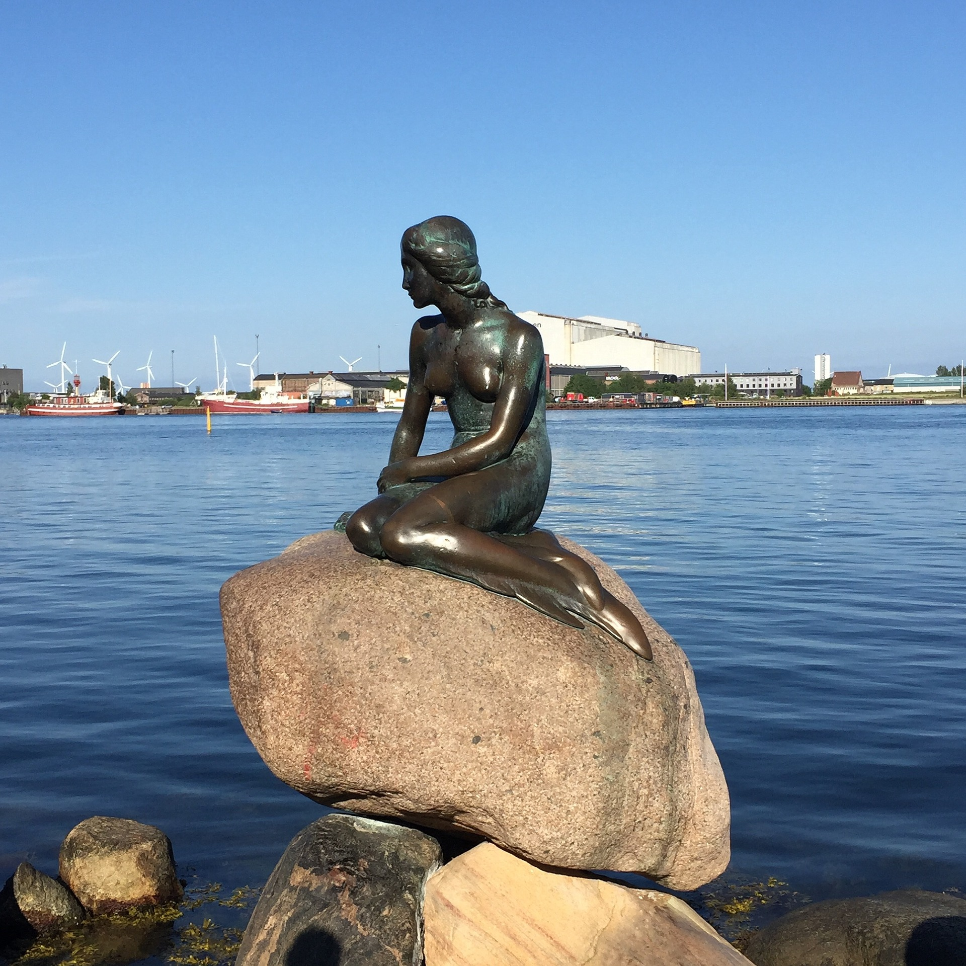 Little Mermaid statue, Copenhagen, Denmark