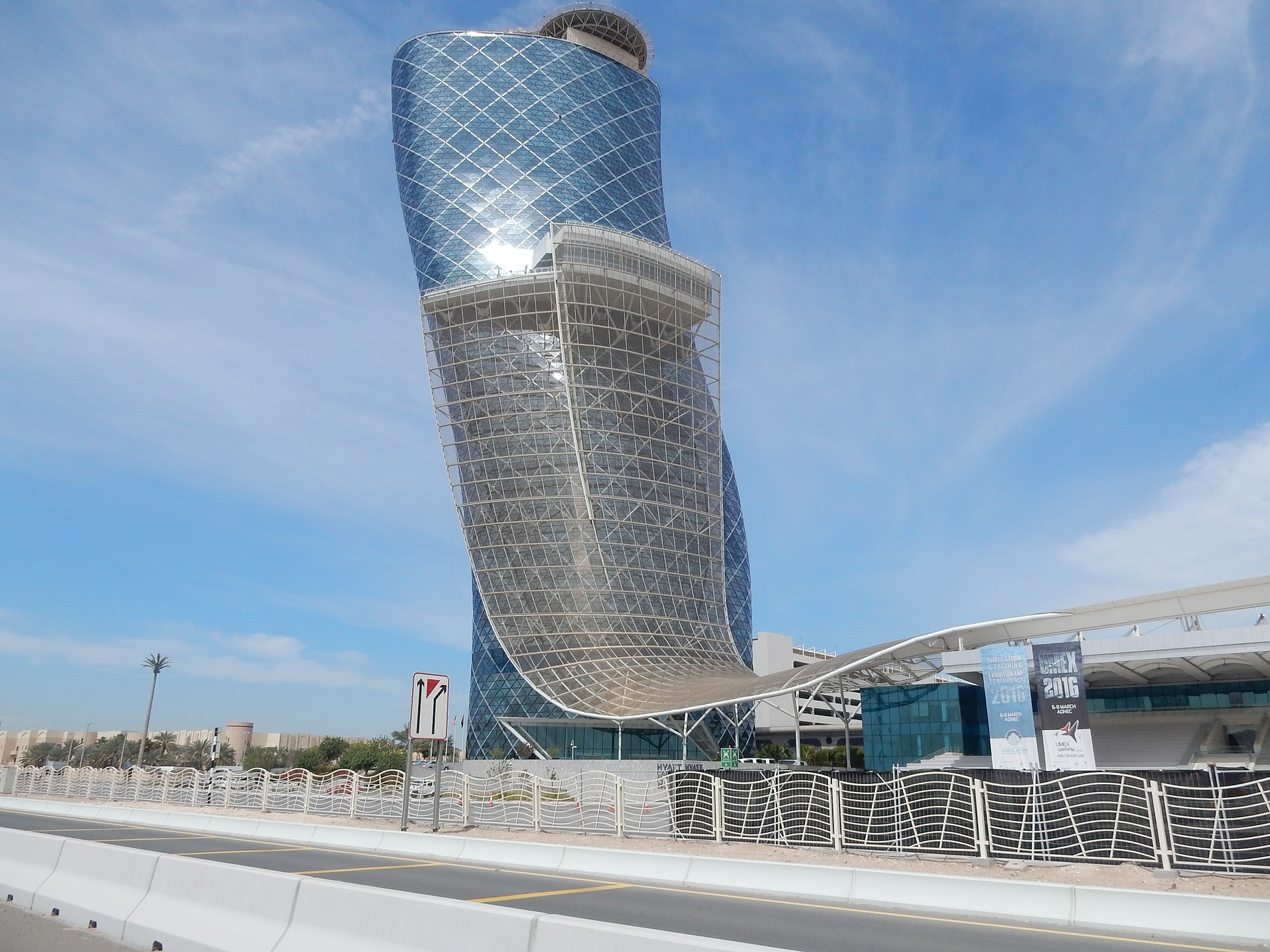 Modern building in Abu Dhabi, UAE