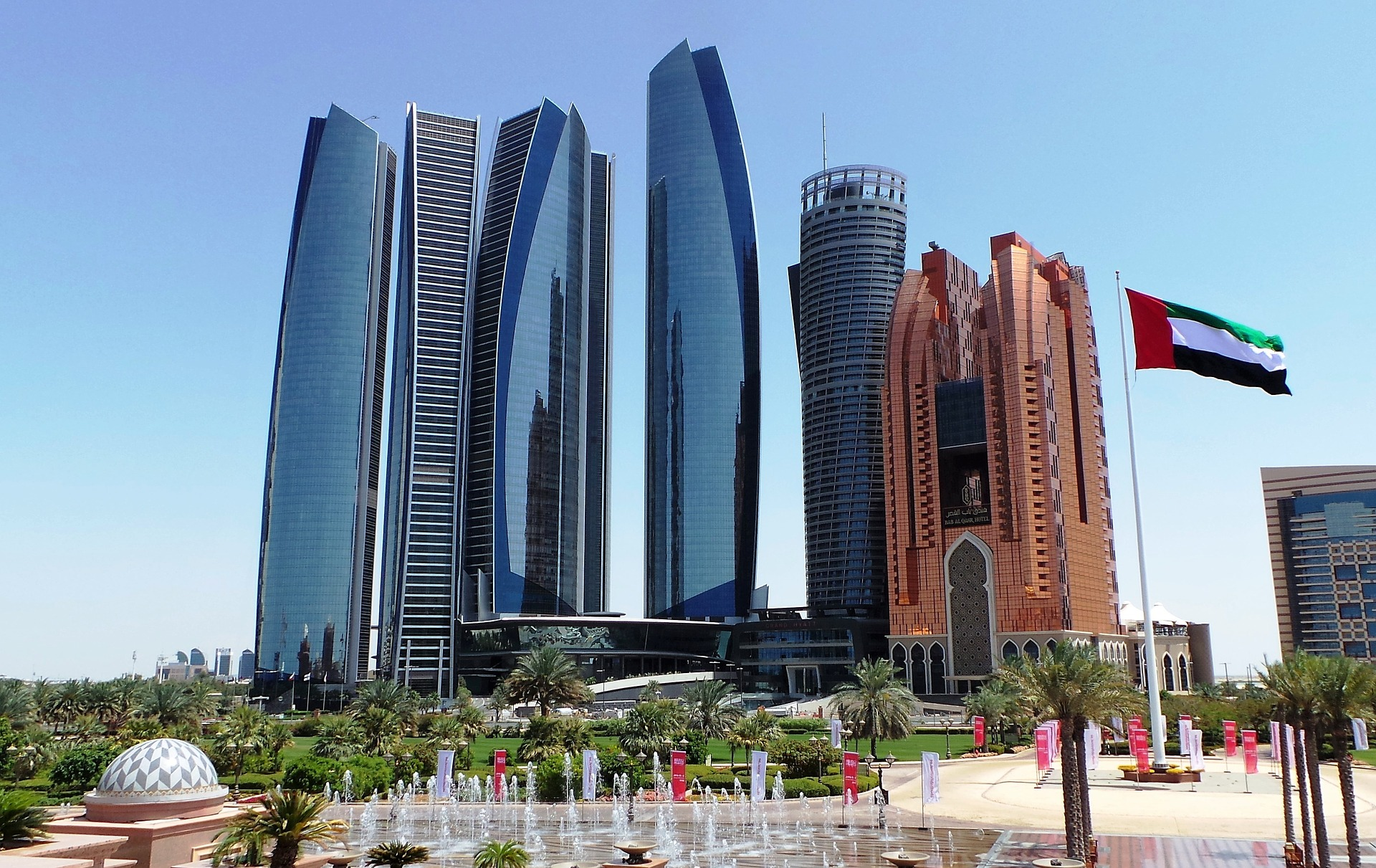 Modern skyscrapers in Abu Dhabi, UAE