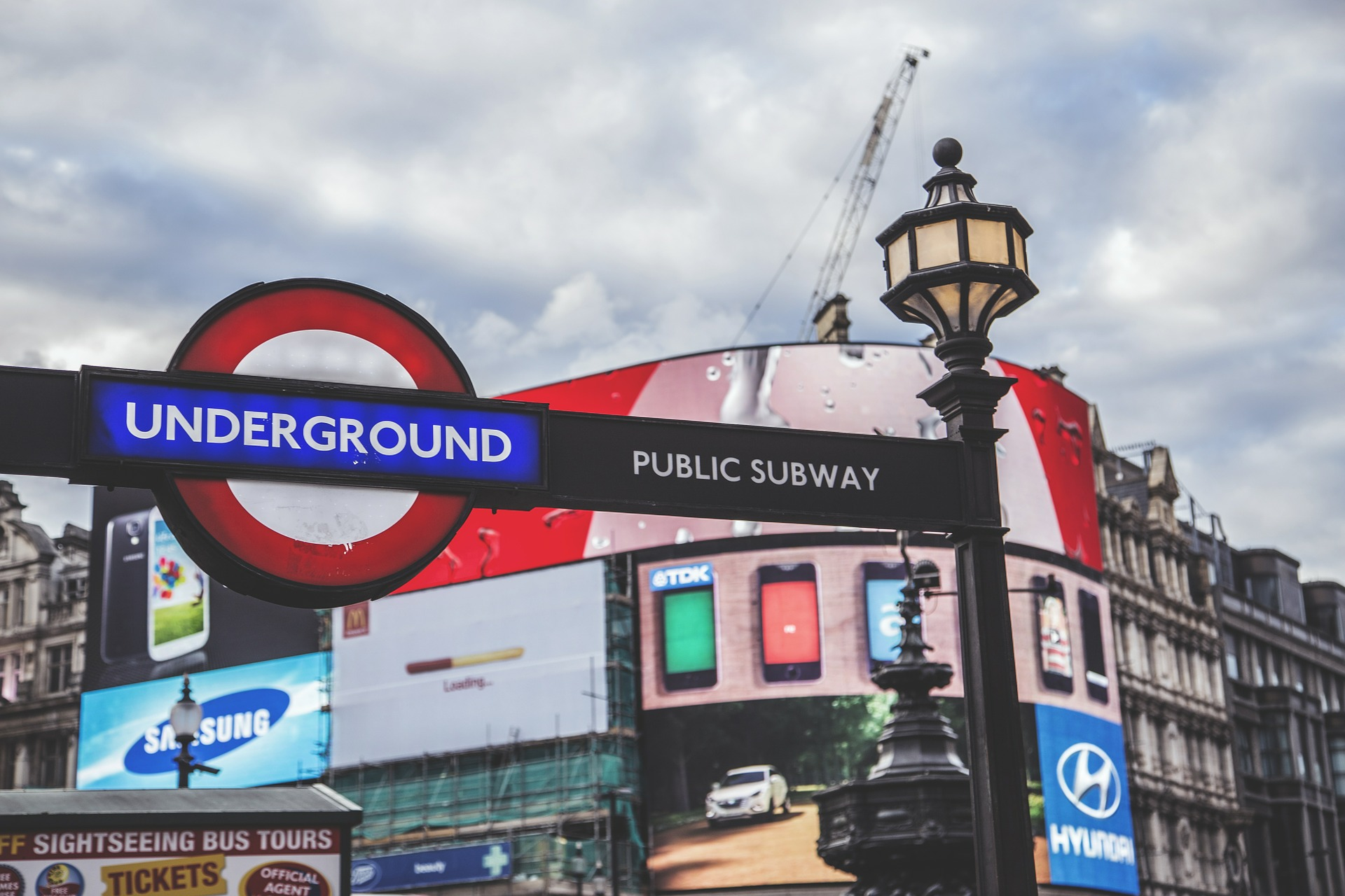 Piccadilly Circus Underground Station, London, UK