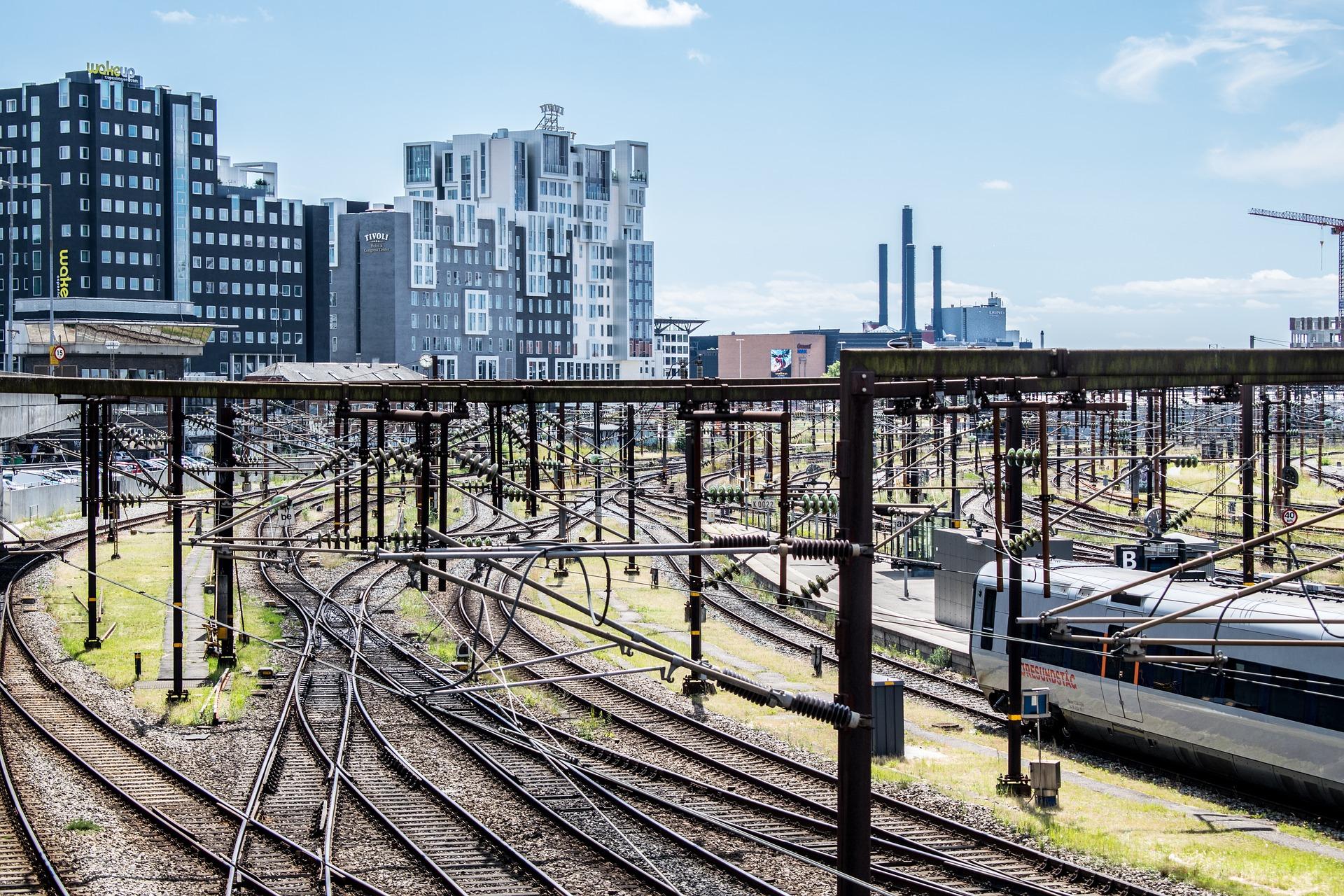 Railway in Copenhagen, Denmark
