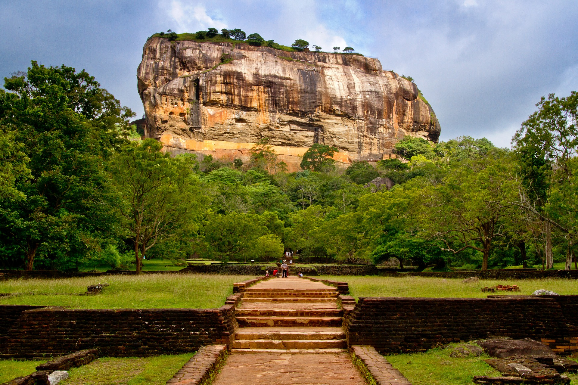 Sigiriya or Sinhagiri is an ancient rock fortress located in Sri Lanka