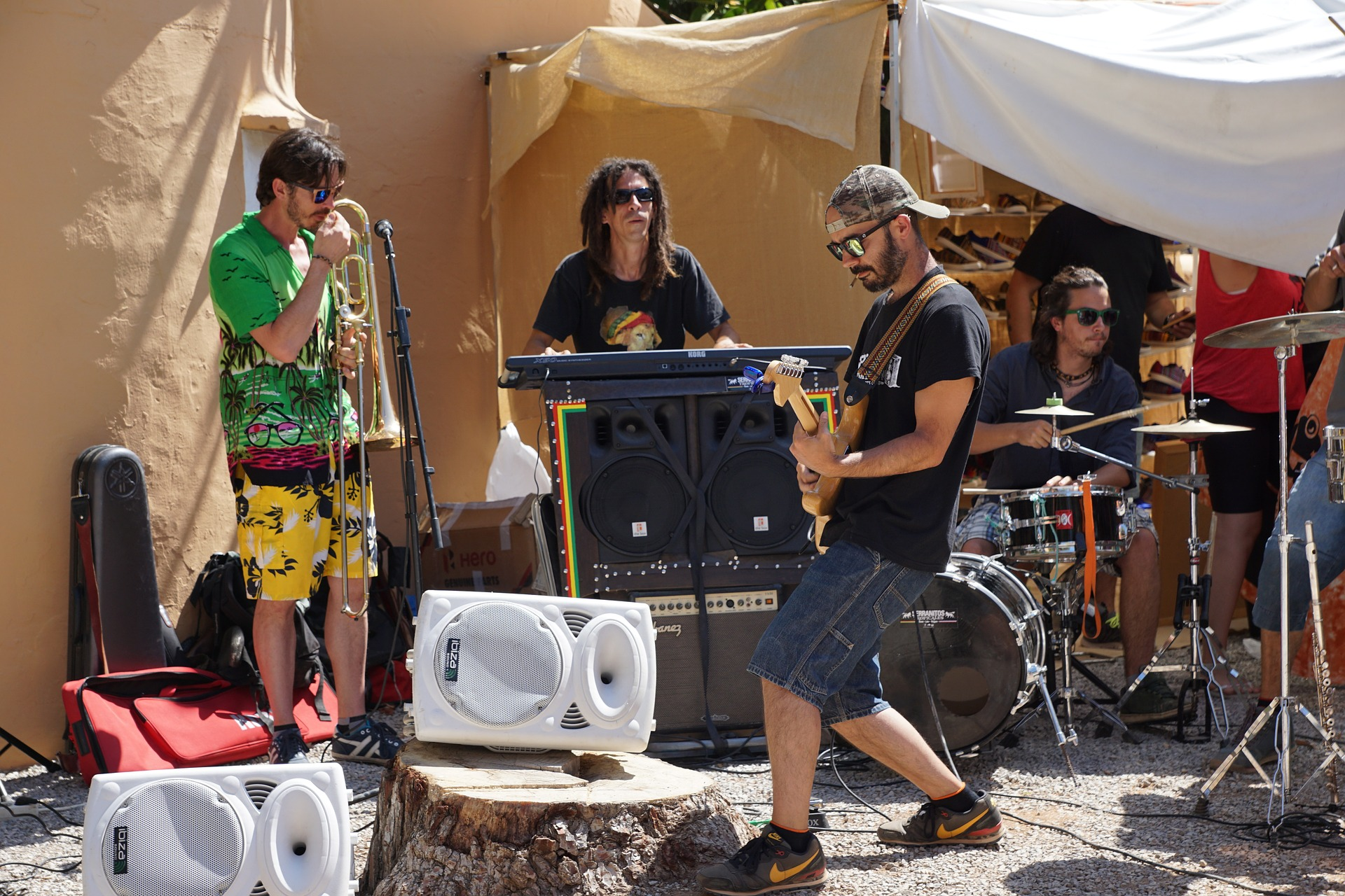 Street Musicians in Ibiza