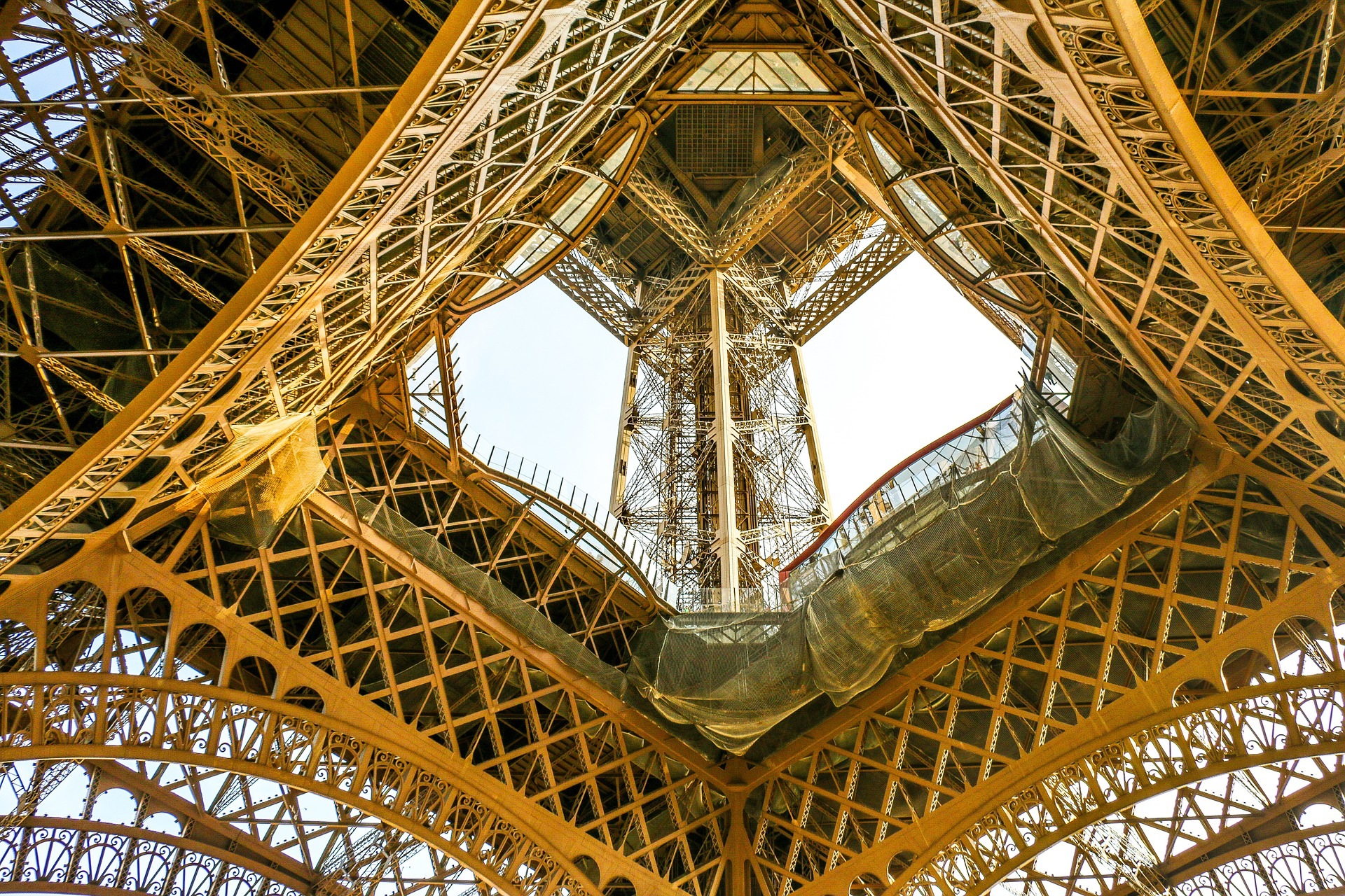 The Eiffel Tower is made from wrought iron