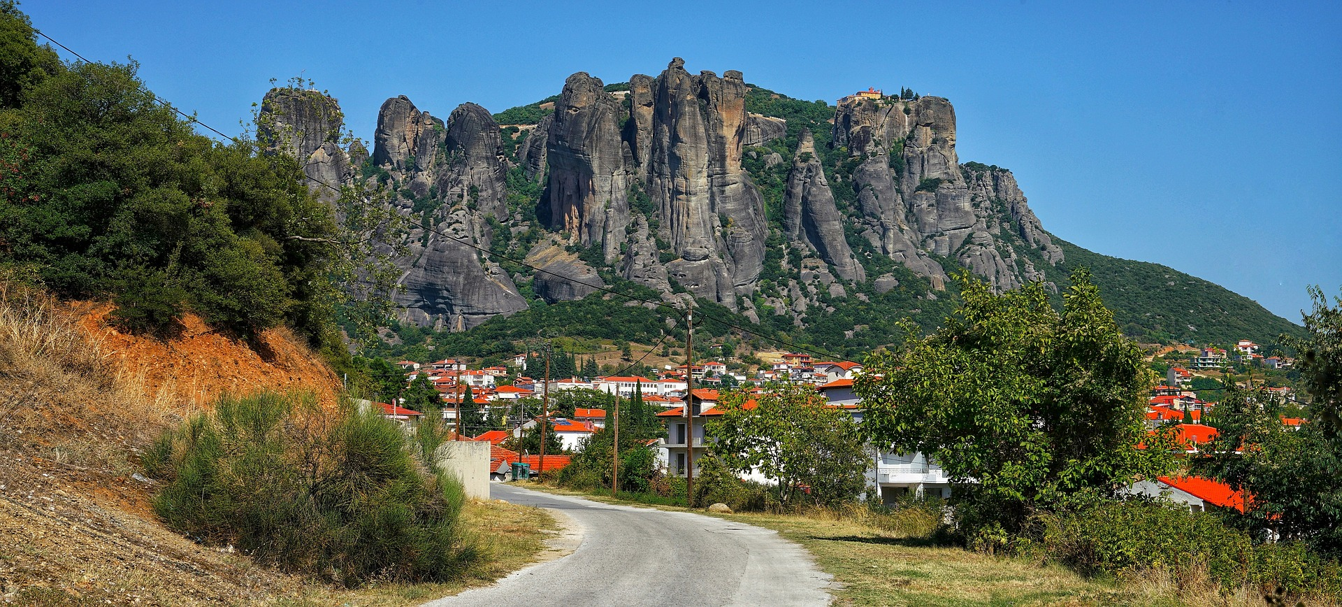 The Meteora is a rock formation in central Greece