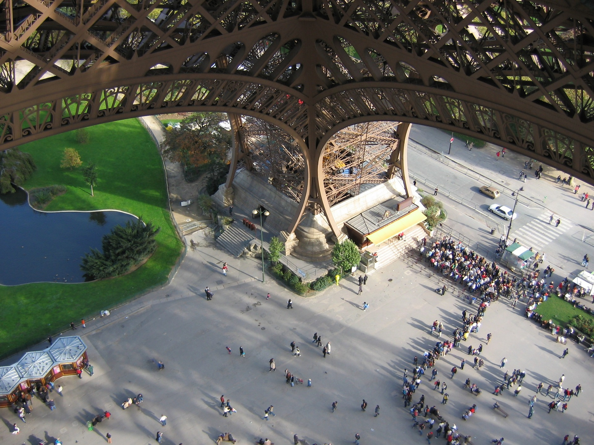 Visitors at the Eiffel Tower