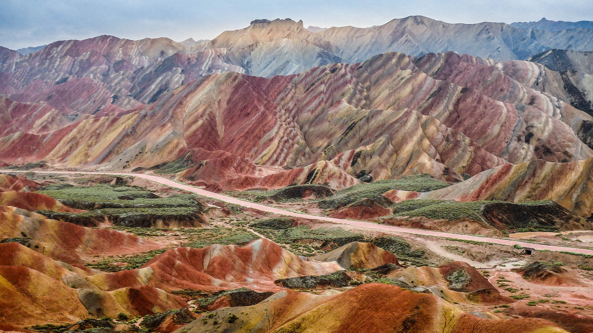 Zhangye Danxia Landform In China
