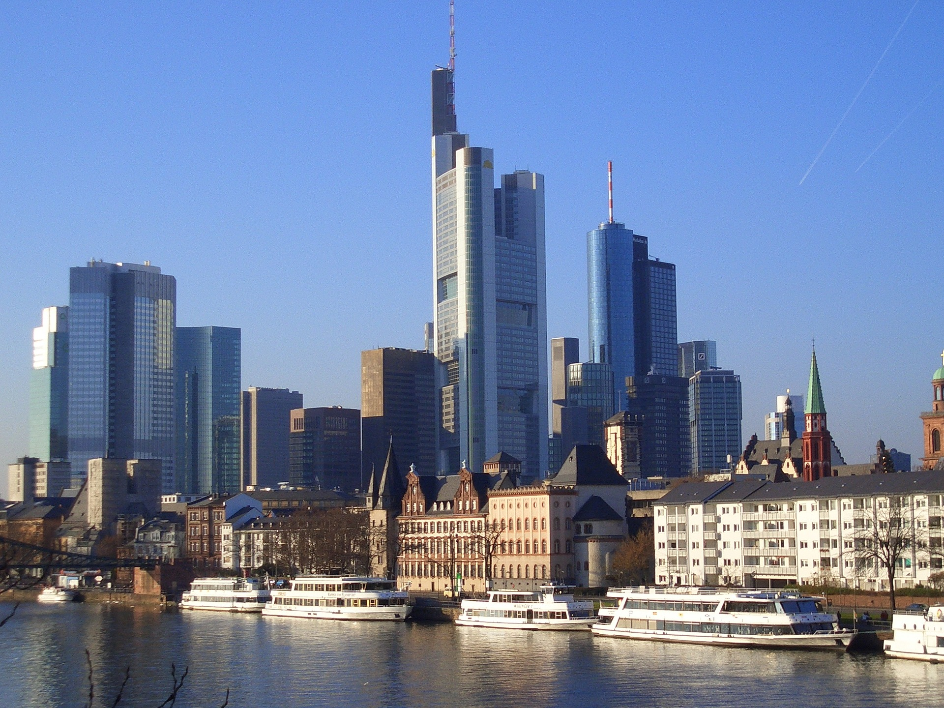 Commerzbank AG tower in Mainhattan, Frankfurt, Germany