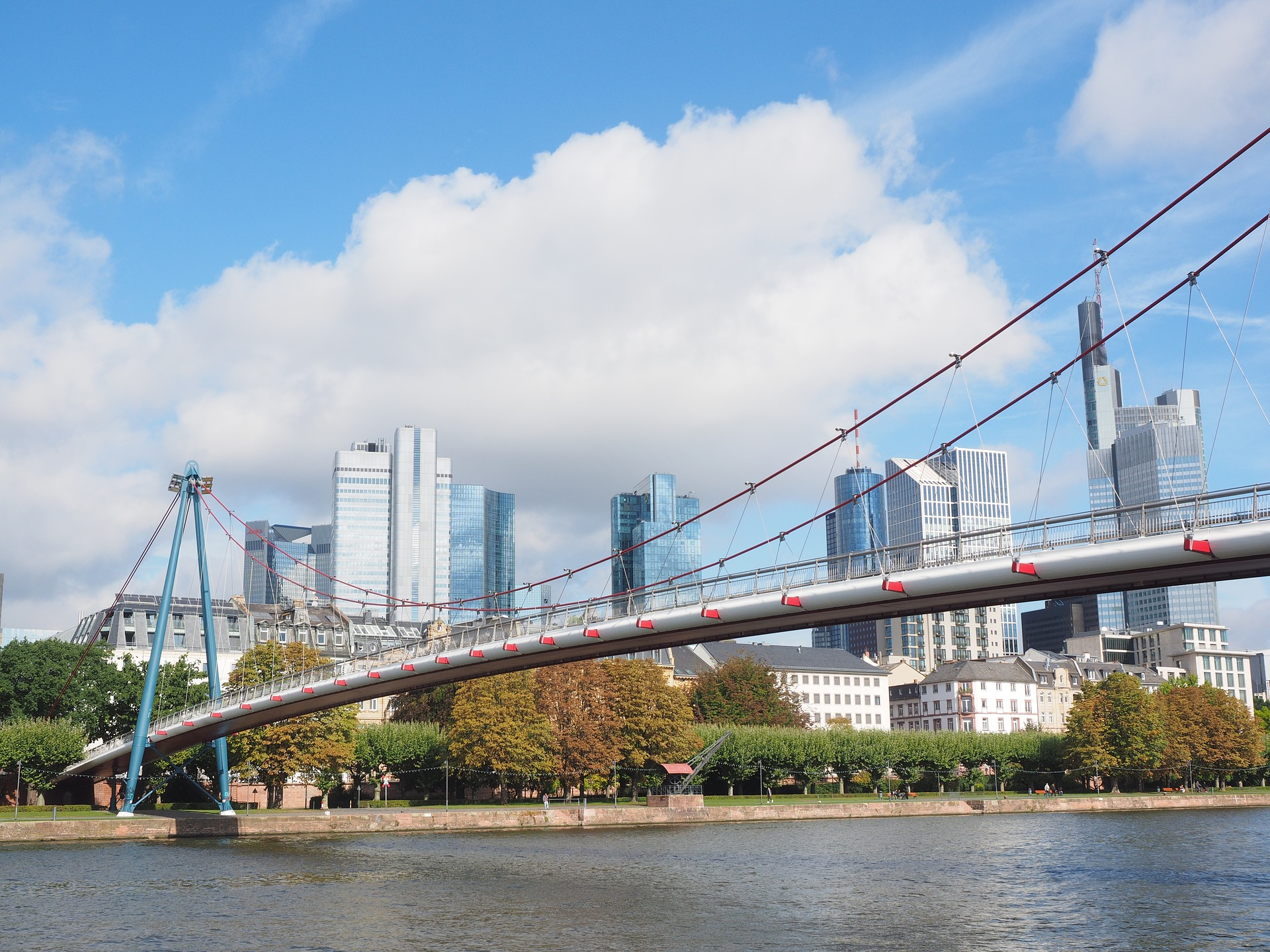 Holbeinsteg Bridge, Frankfurt, germany