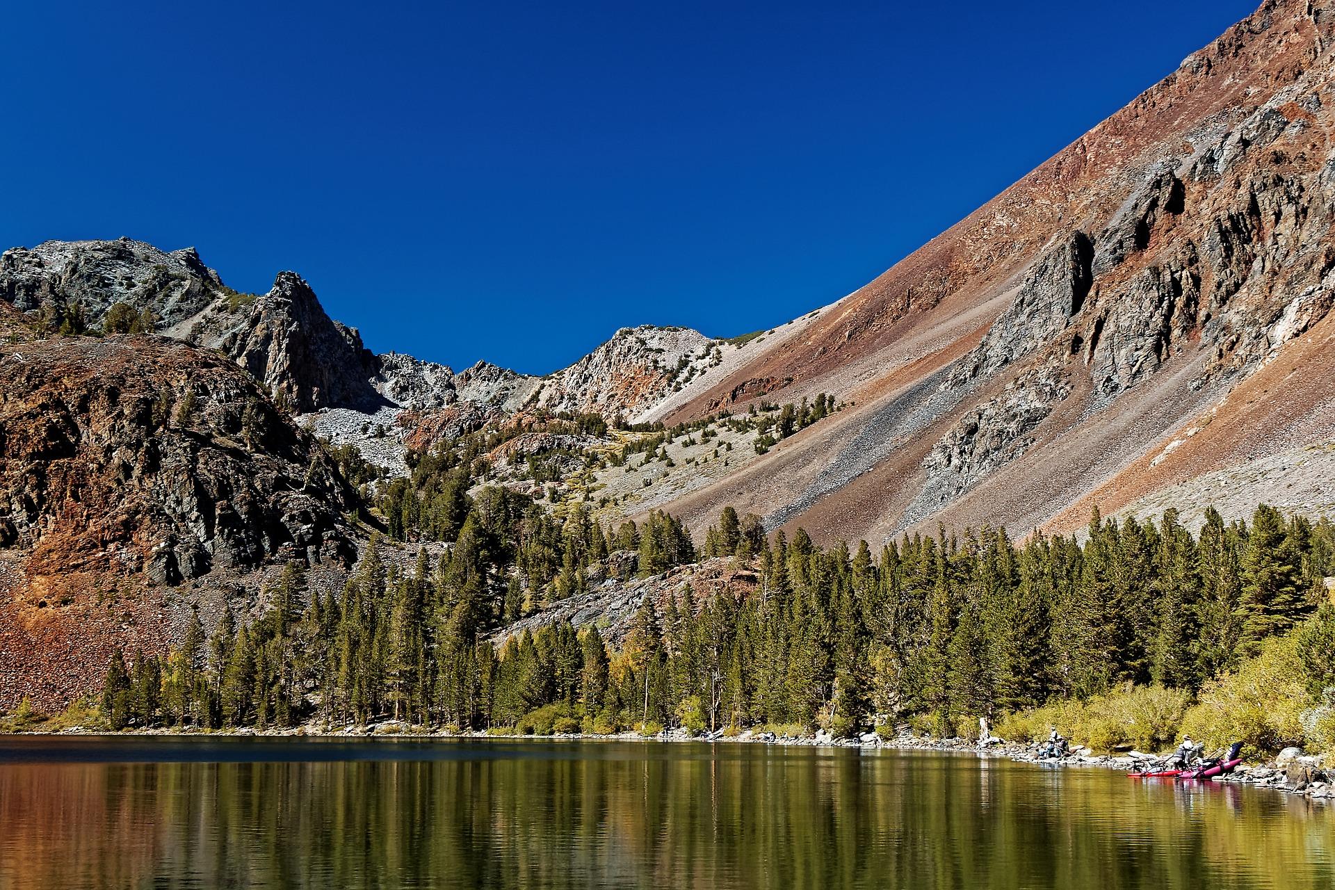 Lake in Yosemite National Park in California, USA