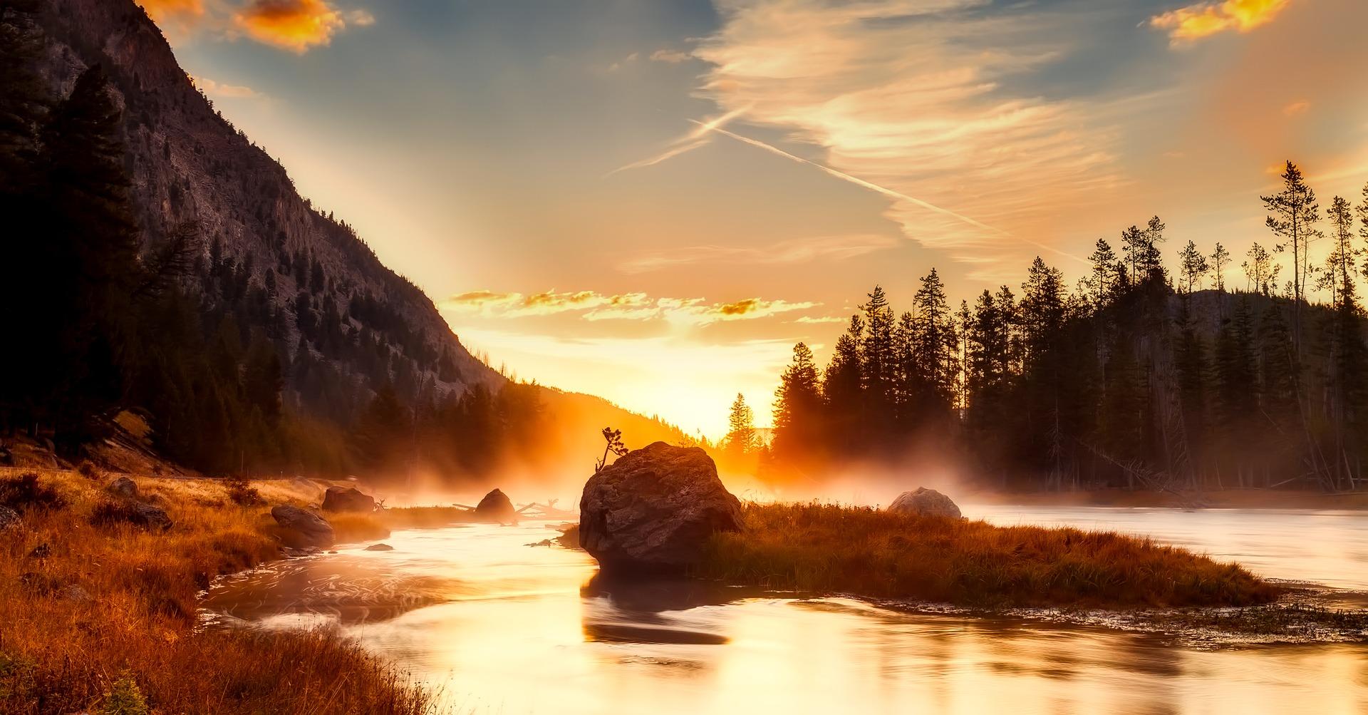 Sunset, Yellowstone National Park, USA
