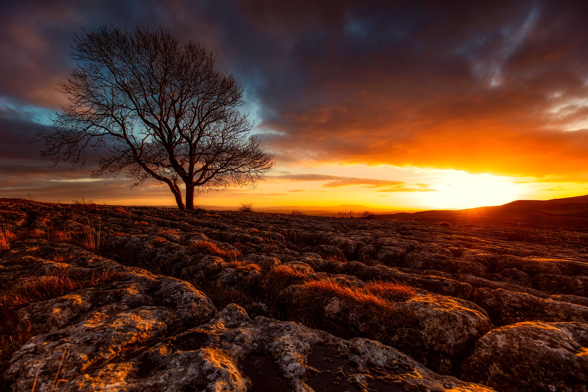 Sunset, Yorkshire, England