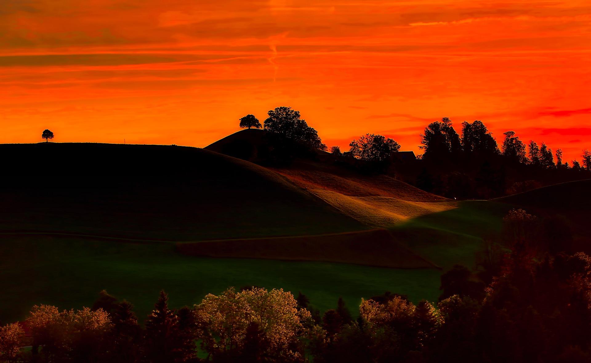 Sunset in Switzerland